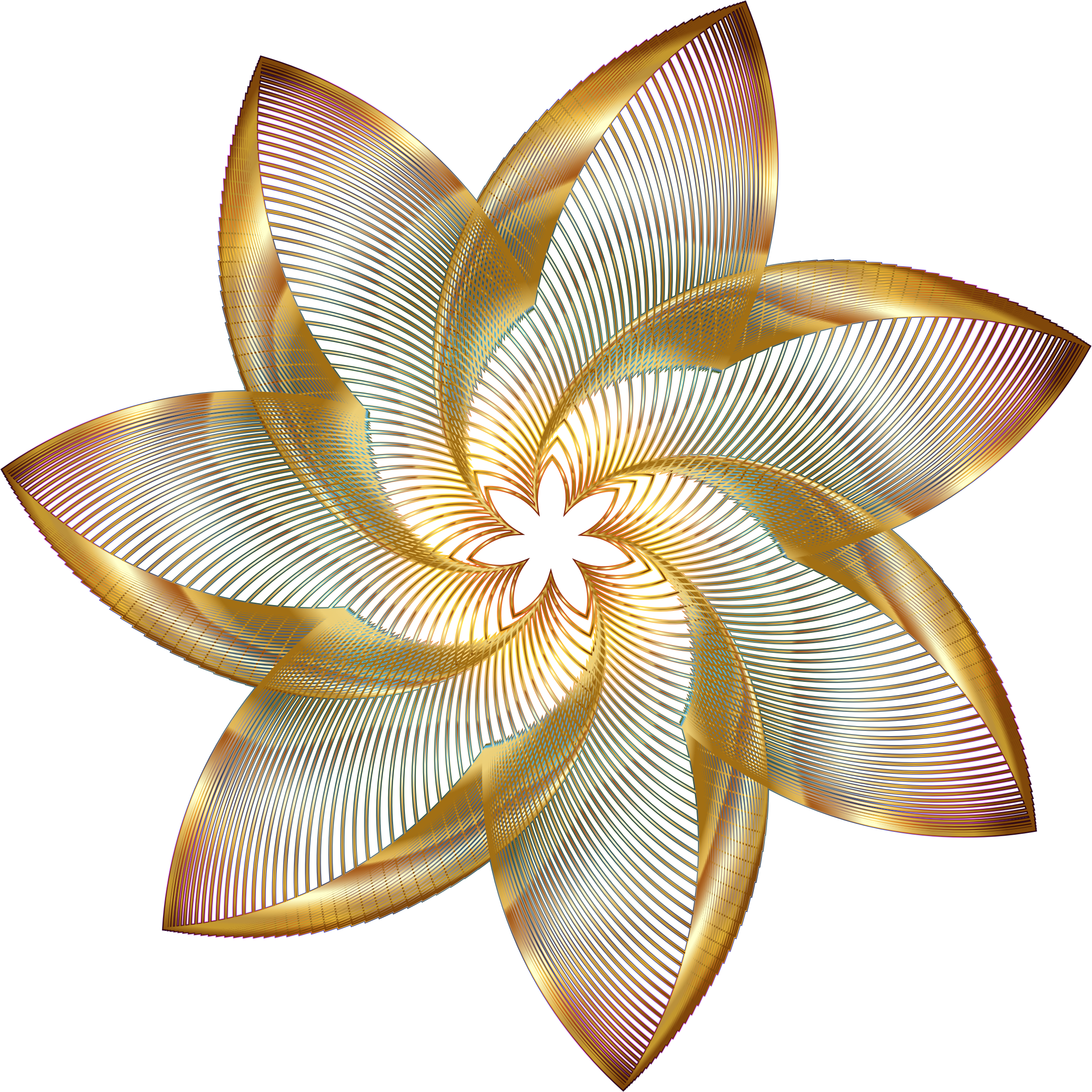 Prismatic Flower Line Art 2 No Background by GDJ
