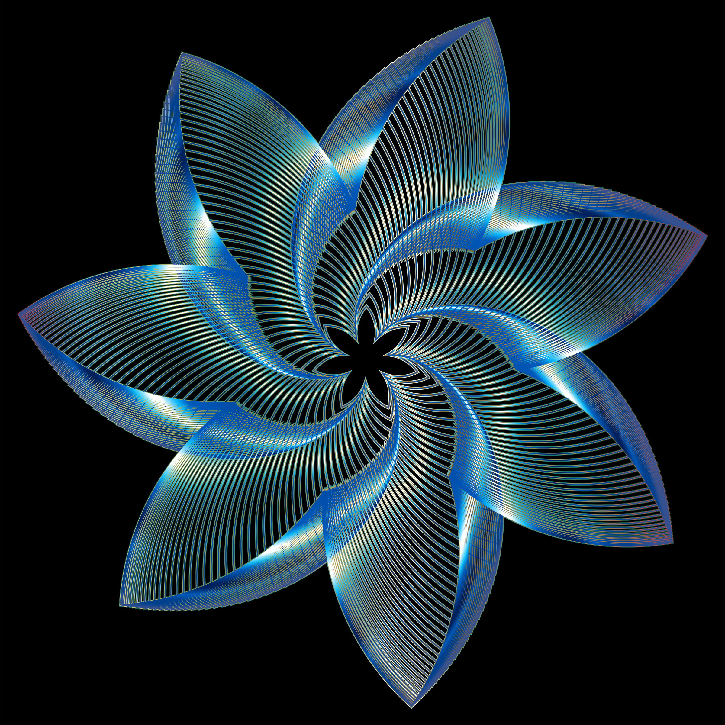Prismatic Flower Line Art 8 by GDJ