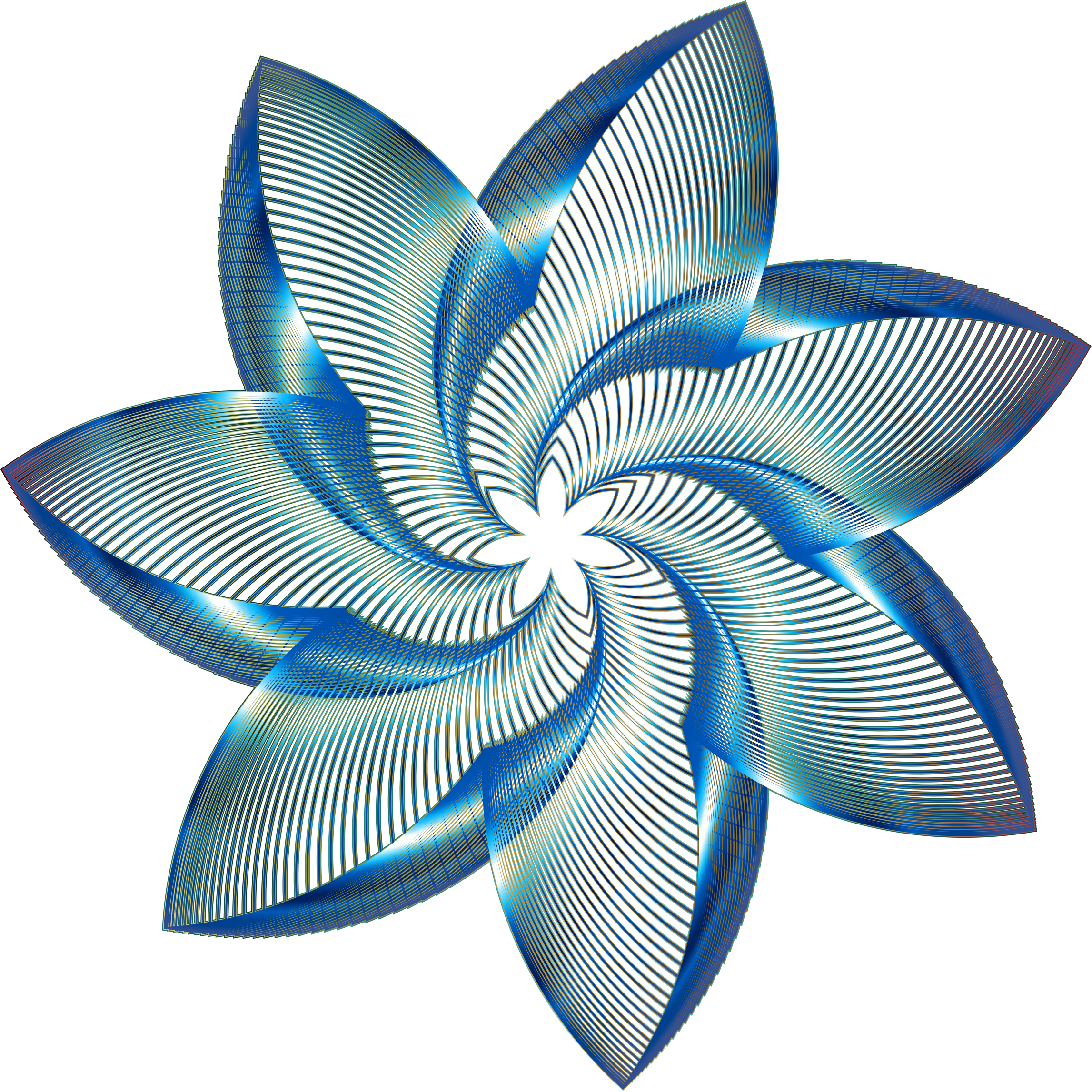 Prismatic Flower Line Art 8 No Background by GDJ