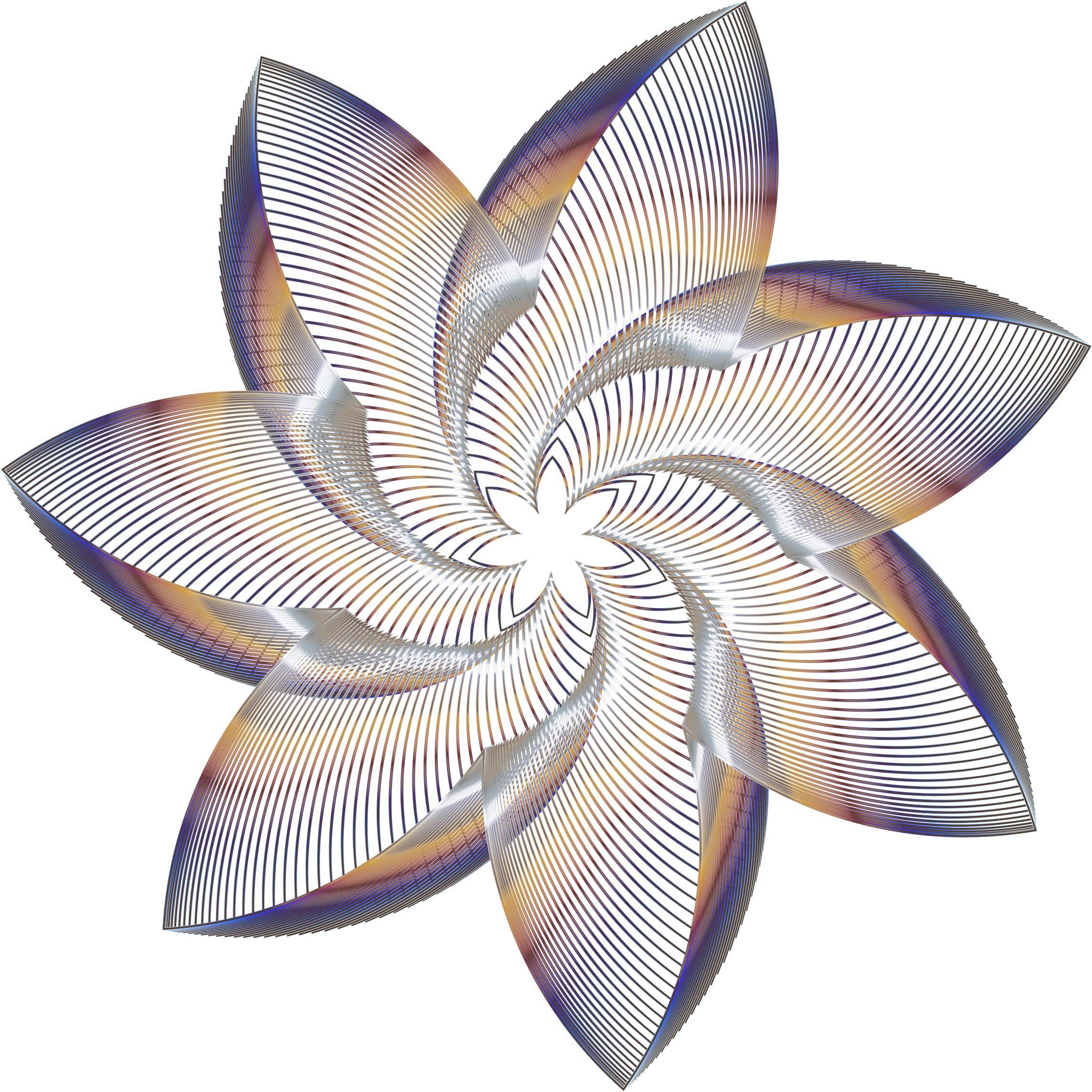 Prismatic Flower Line Art 9 No Background by GDJ