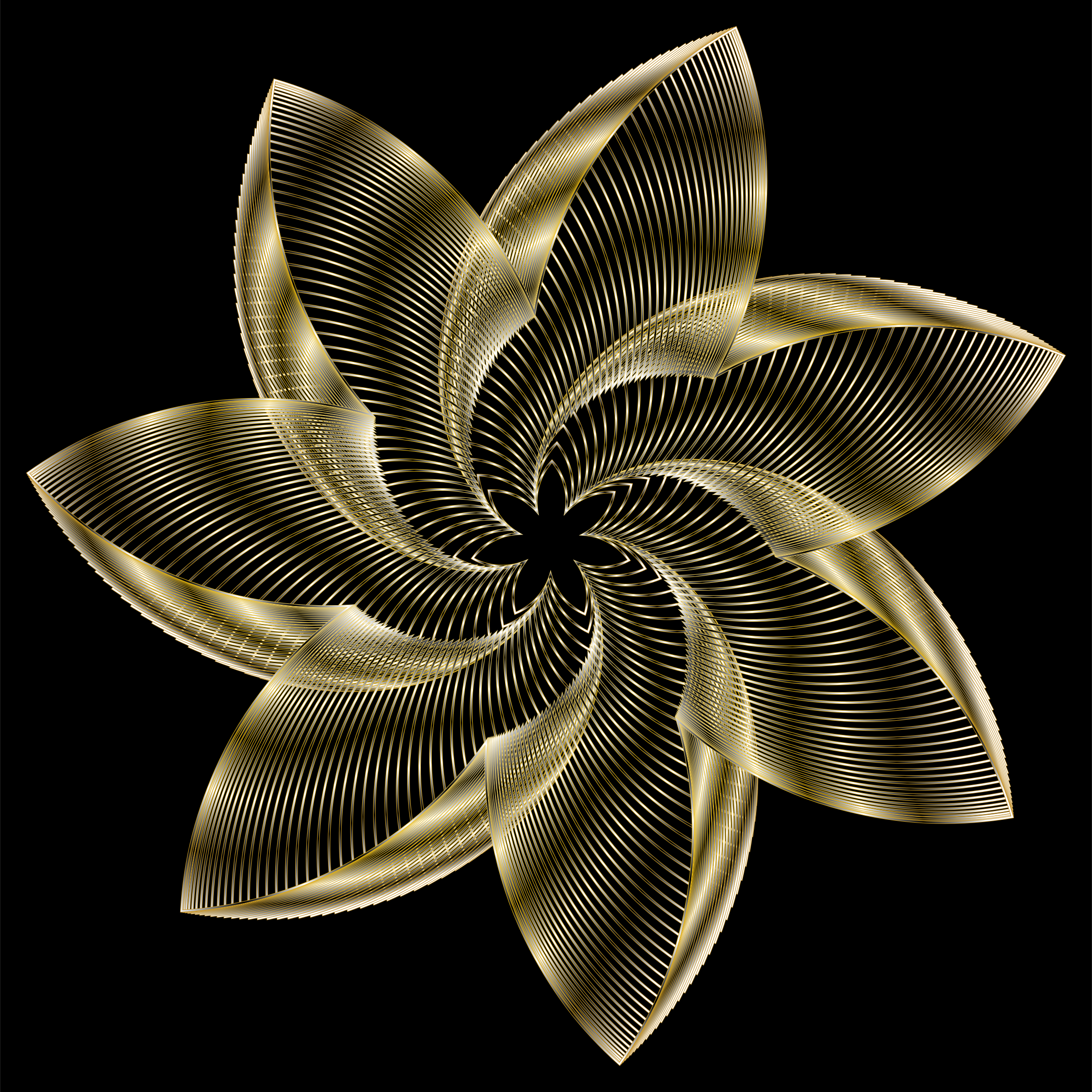 Prismatic Flower Line Art 10 by GDJ