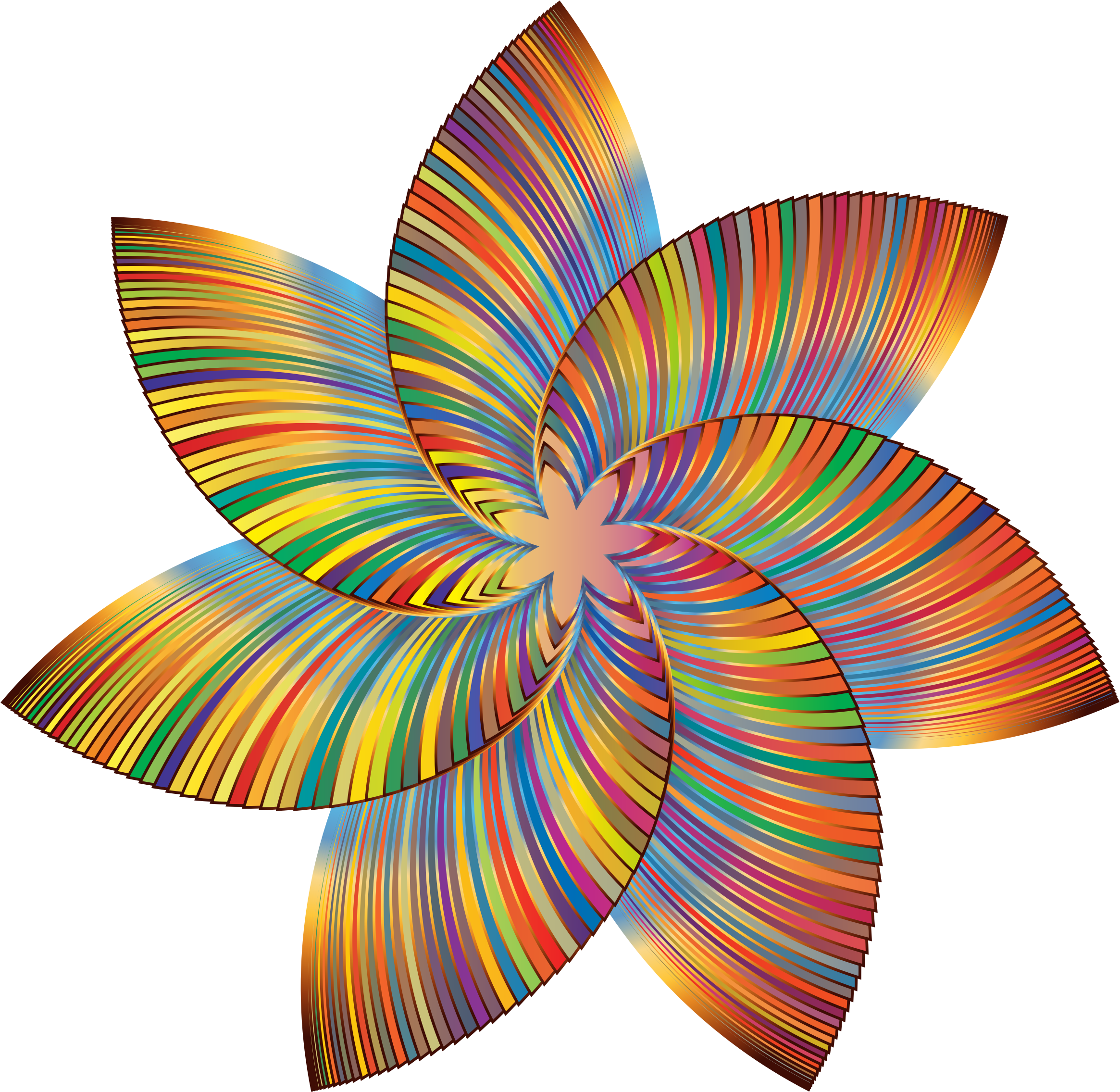 Colorful Flower Line Art 2 by GDJ