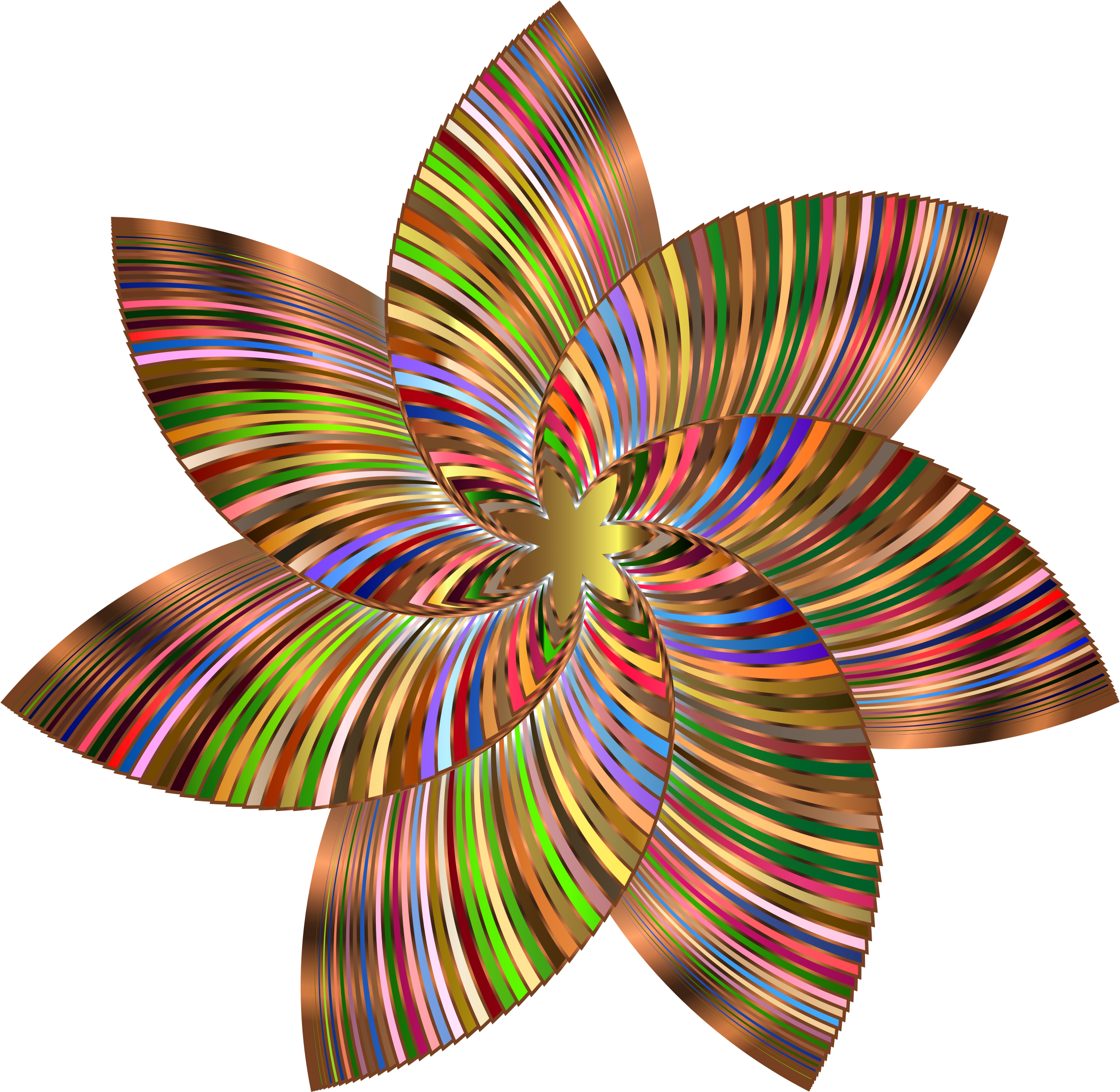 Colorful Flower Line Art 4 by GDJ