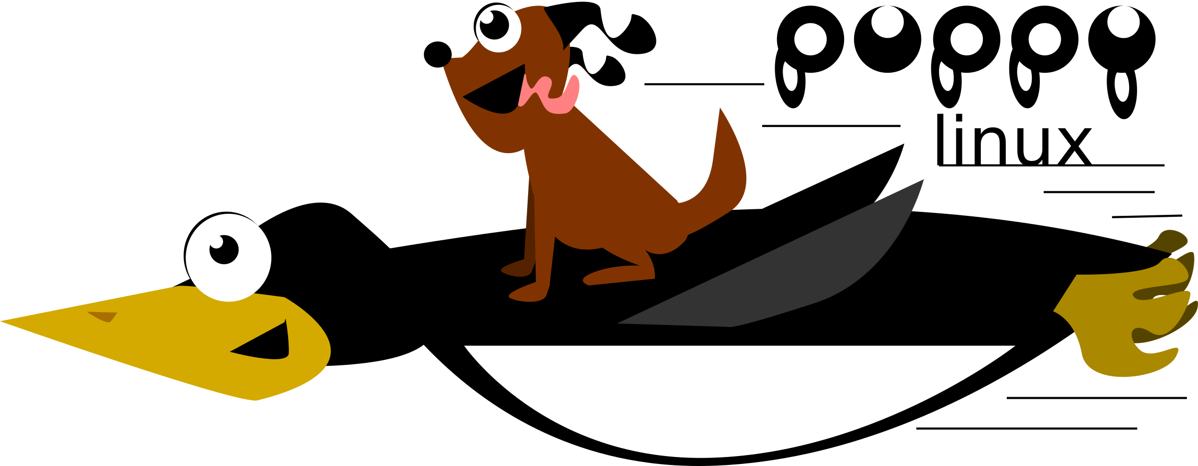 Puppy Linux Logo with Tux by feraliminal