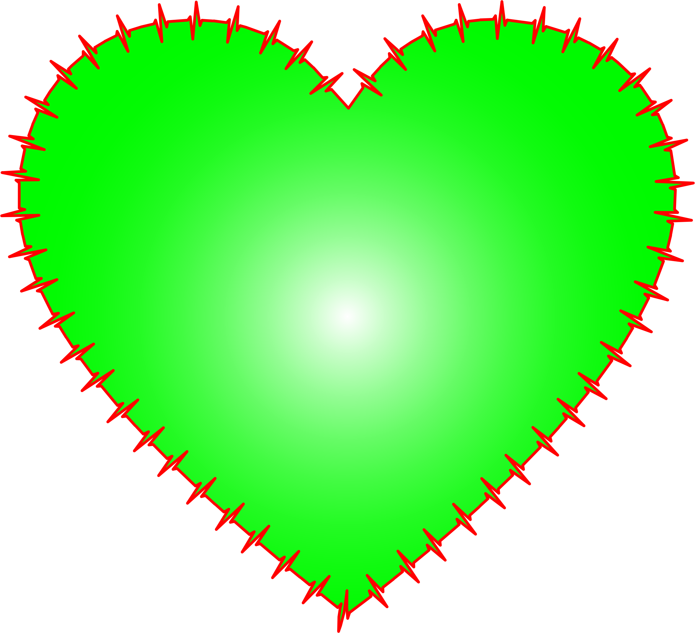 Heart EKG Rhythm Green by GDJ