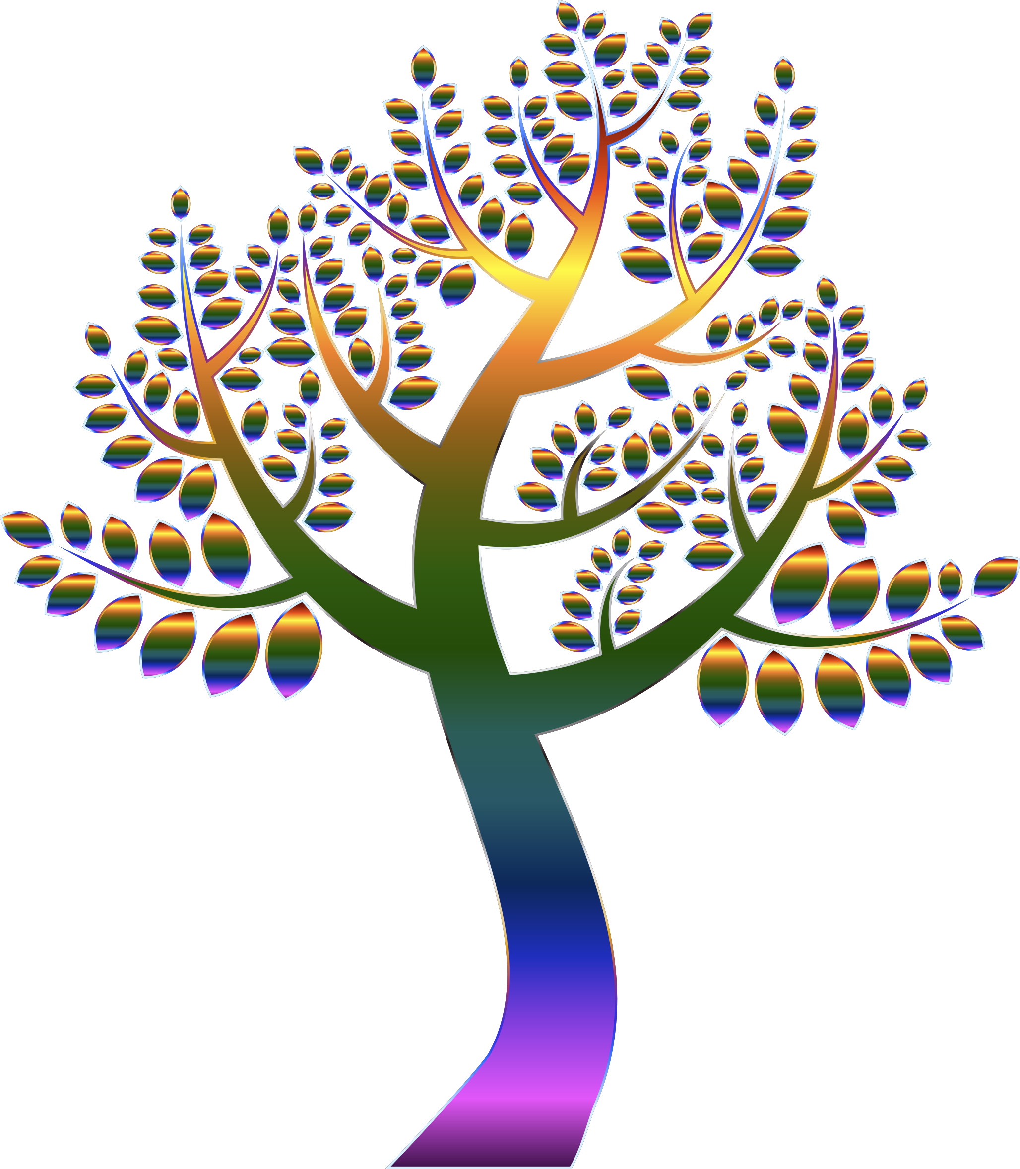 Simple Prismatic Tree 5 Without Background by GDJ