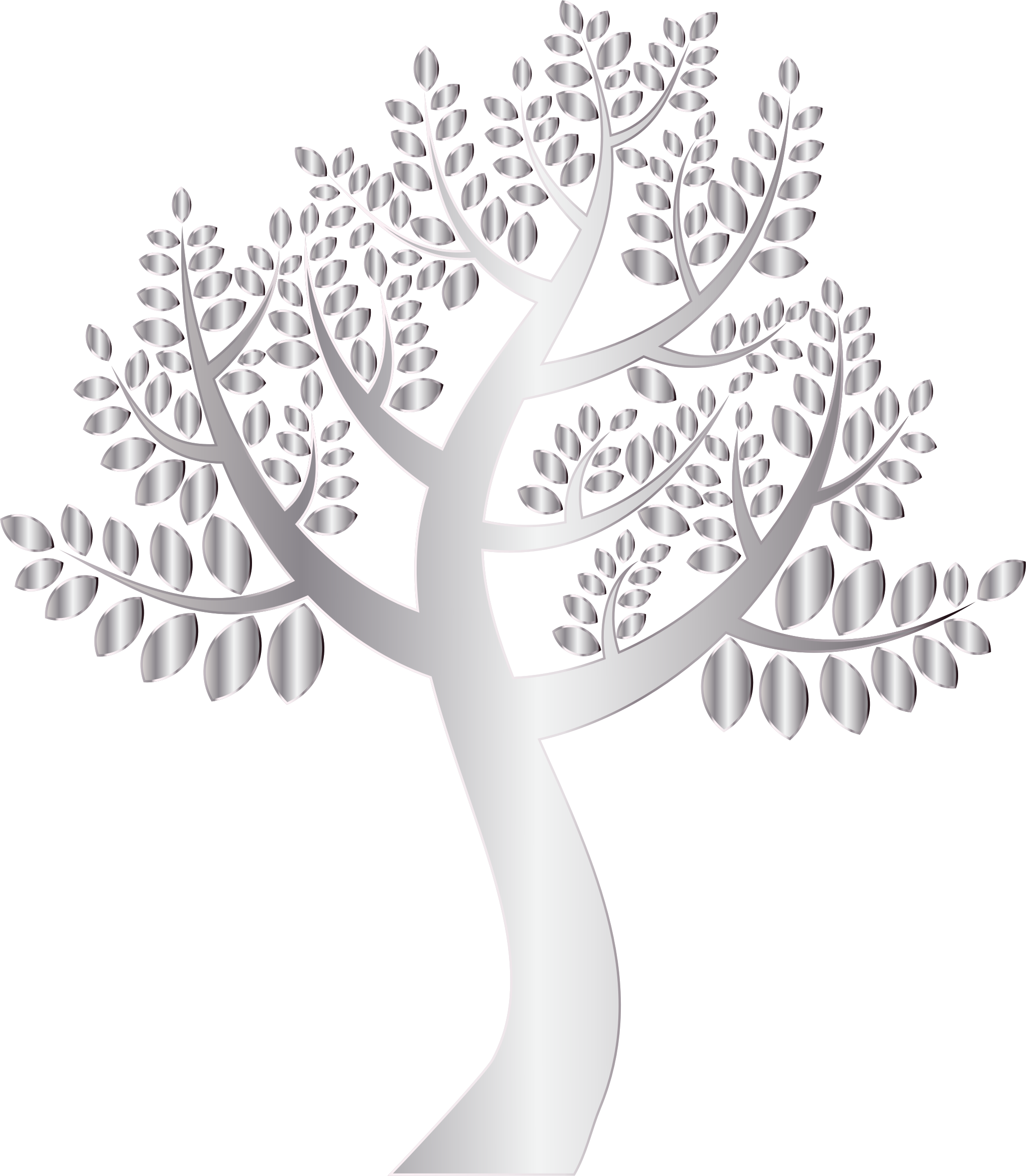Simple Silver Tree Without Background by GDJ
