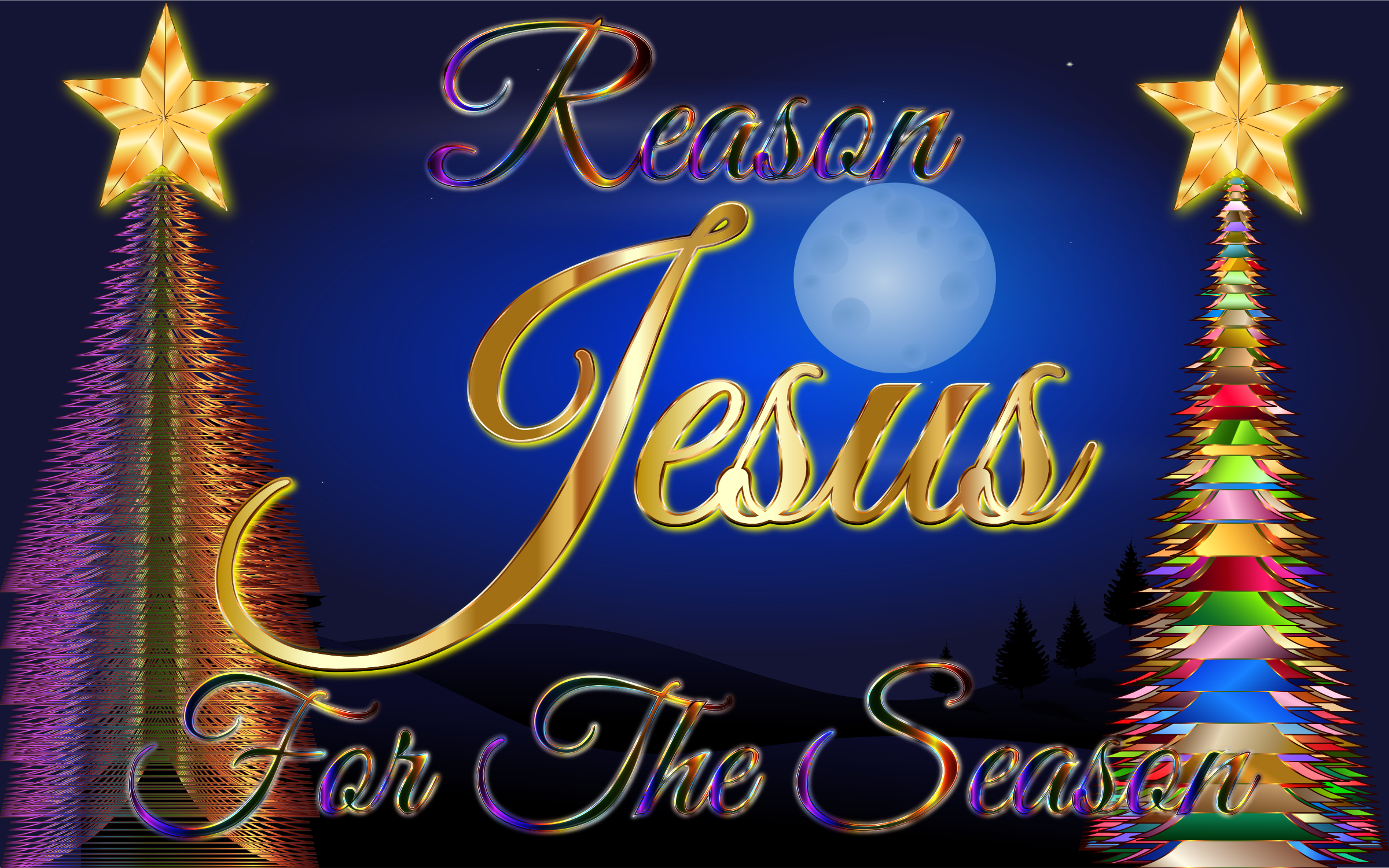 Jesus Reason For The Season Enhanced 2 by GDJ