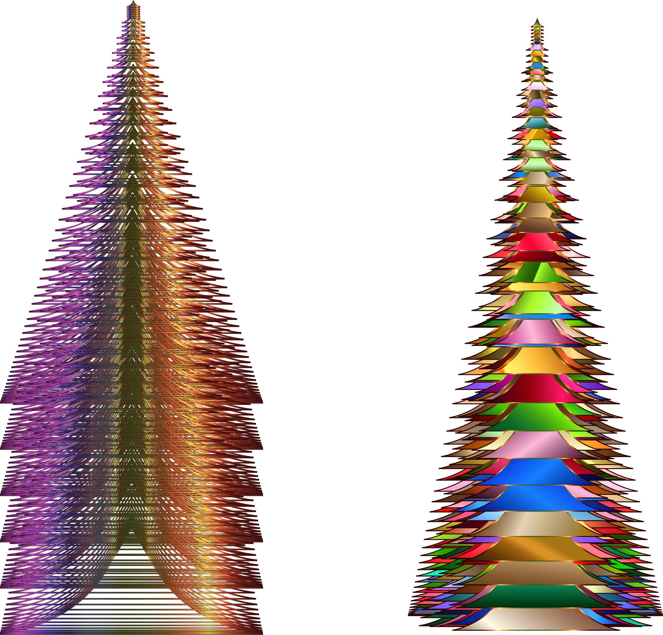 Prismatic Christmas Trees by GDJ