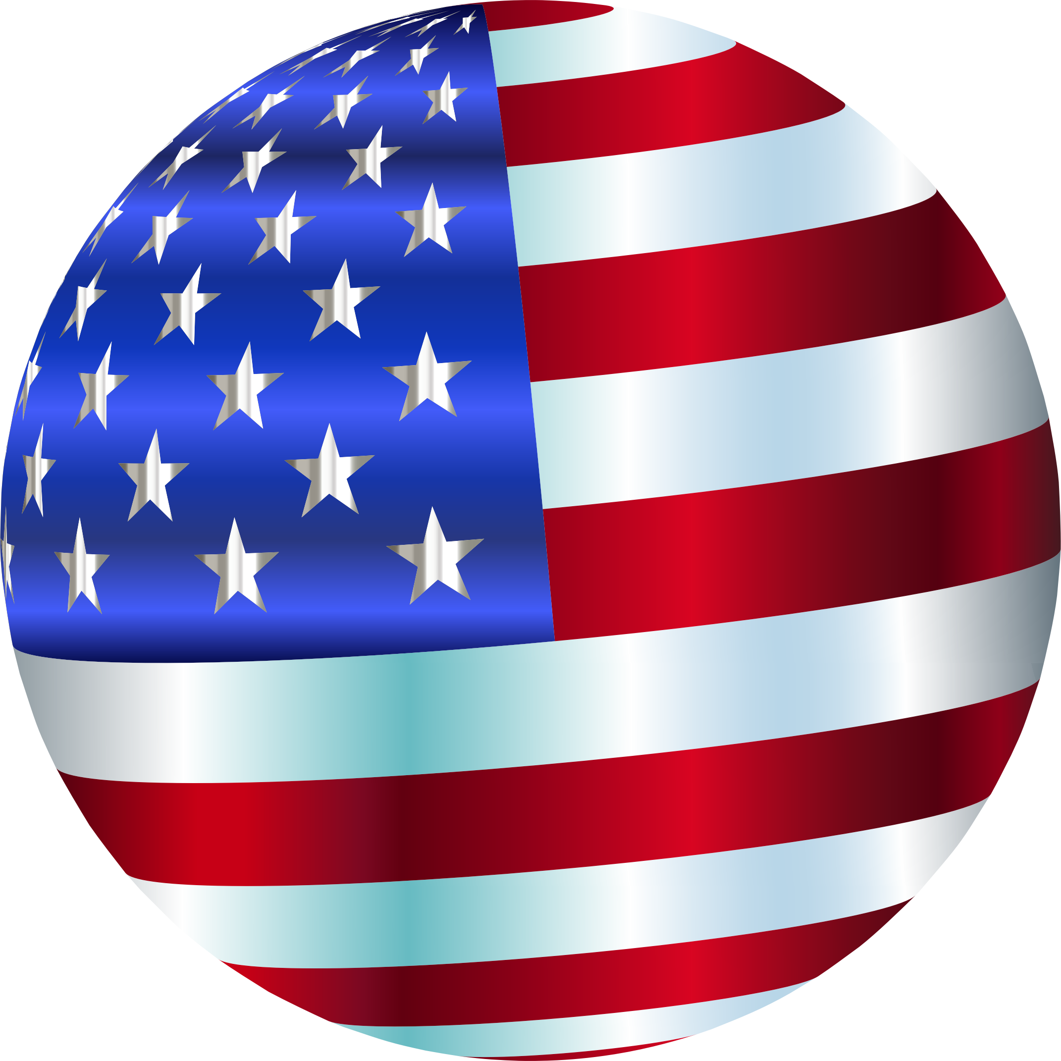 USA Flag Sphere Enhanced 2 by GDJ