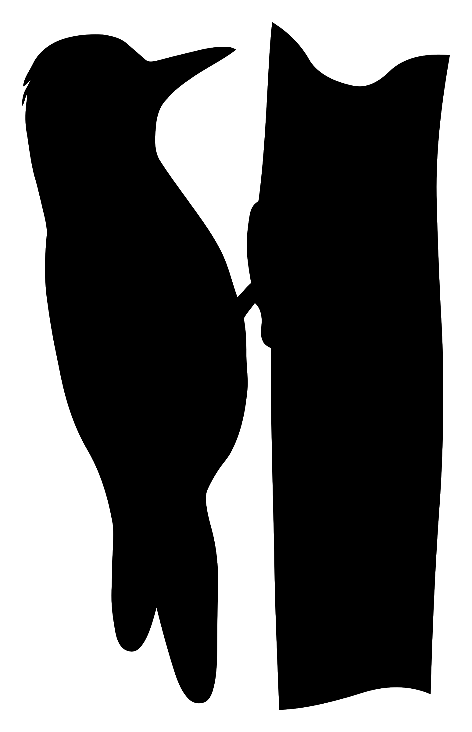 Silhouette - woodpecker by SeriousTux