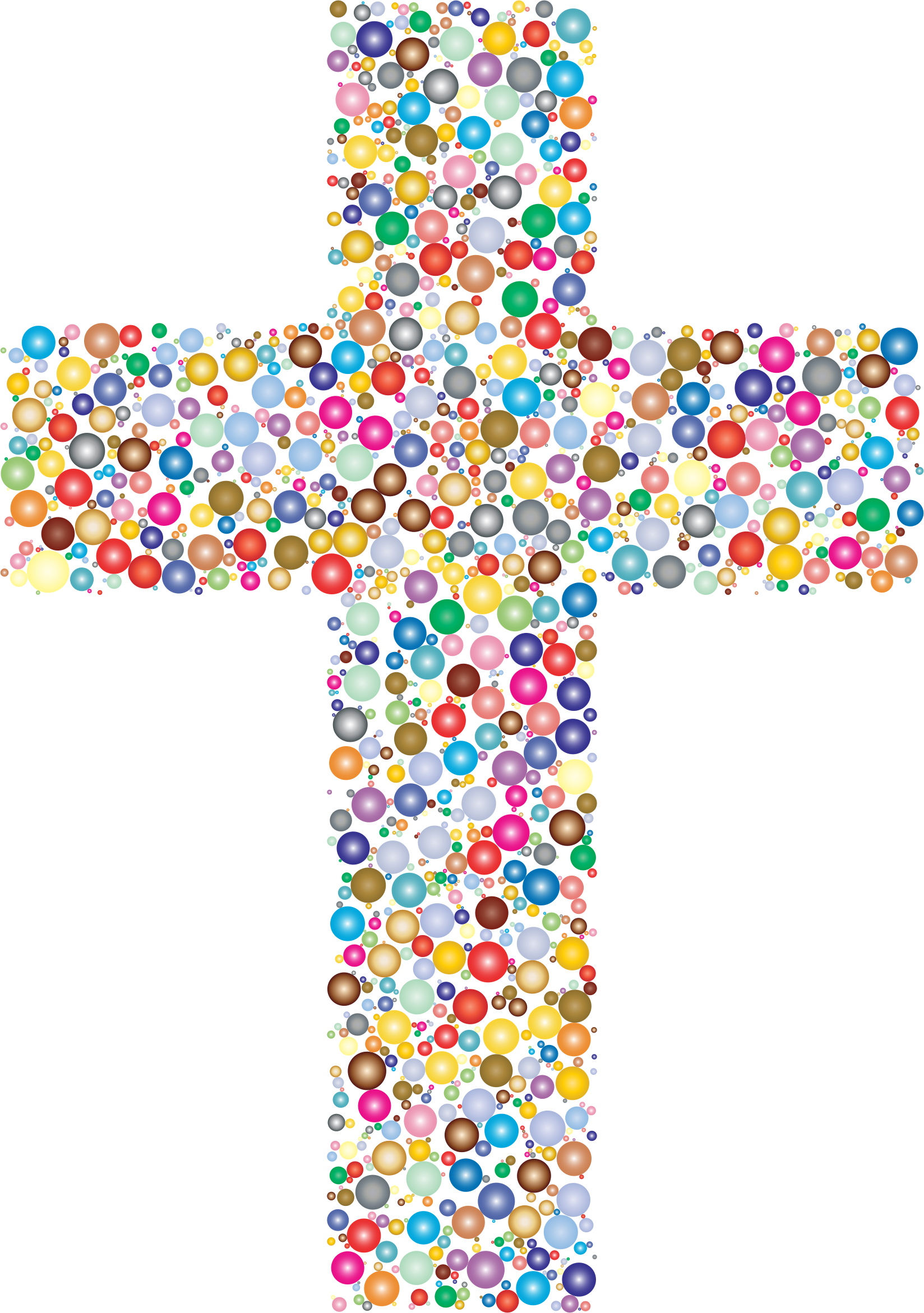 Clipart - Colorful Cross Circles 2