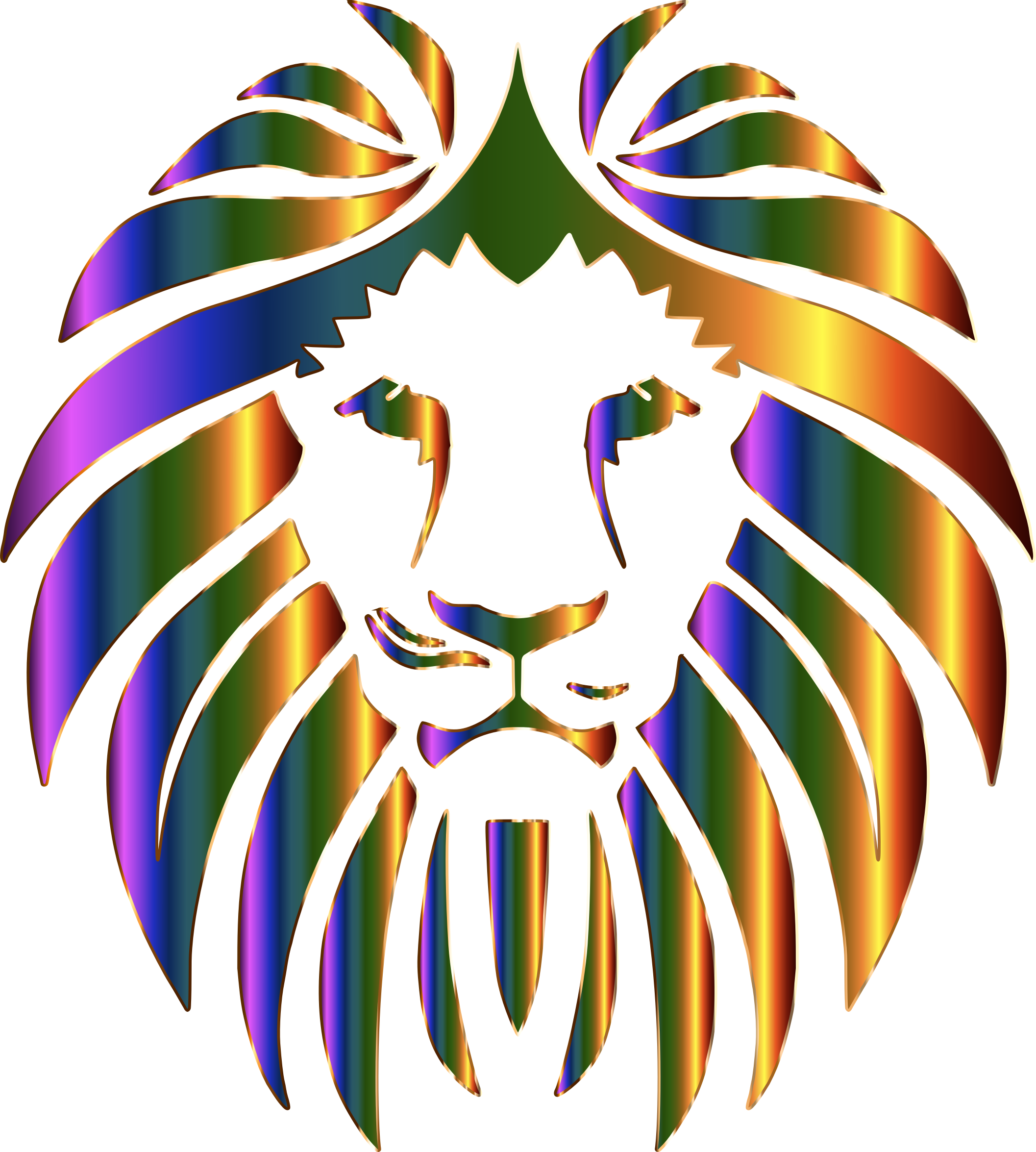 Prismatic Lion No Background by GDJ