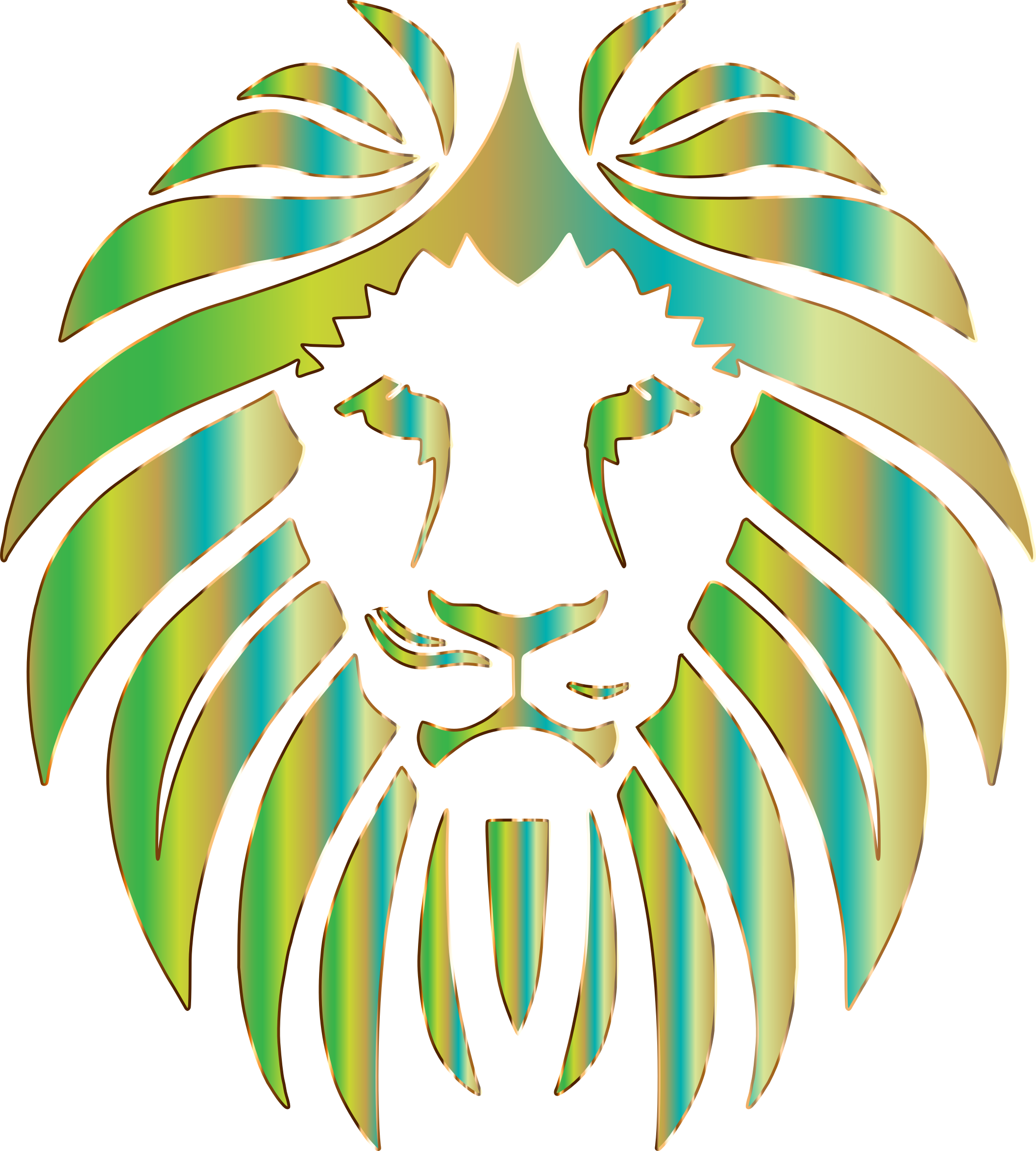 Prismatic Lion 7 No Background by GDJ