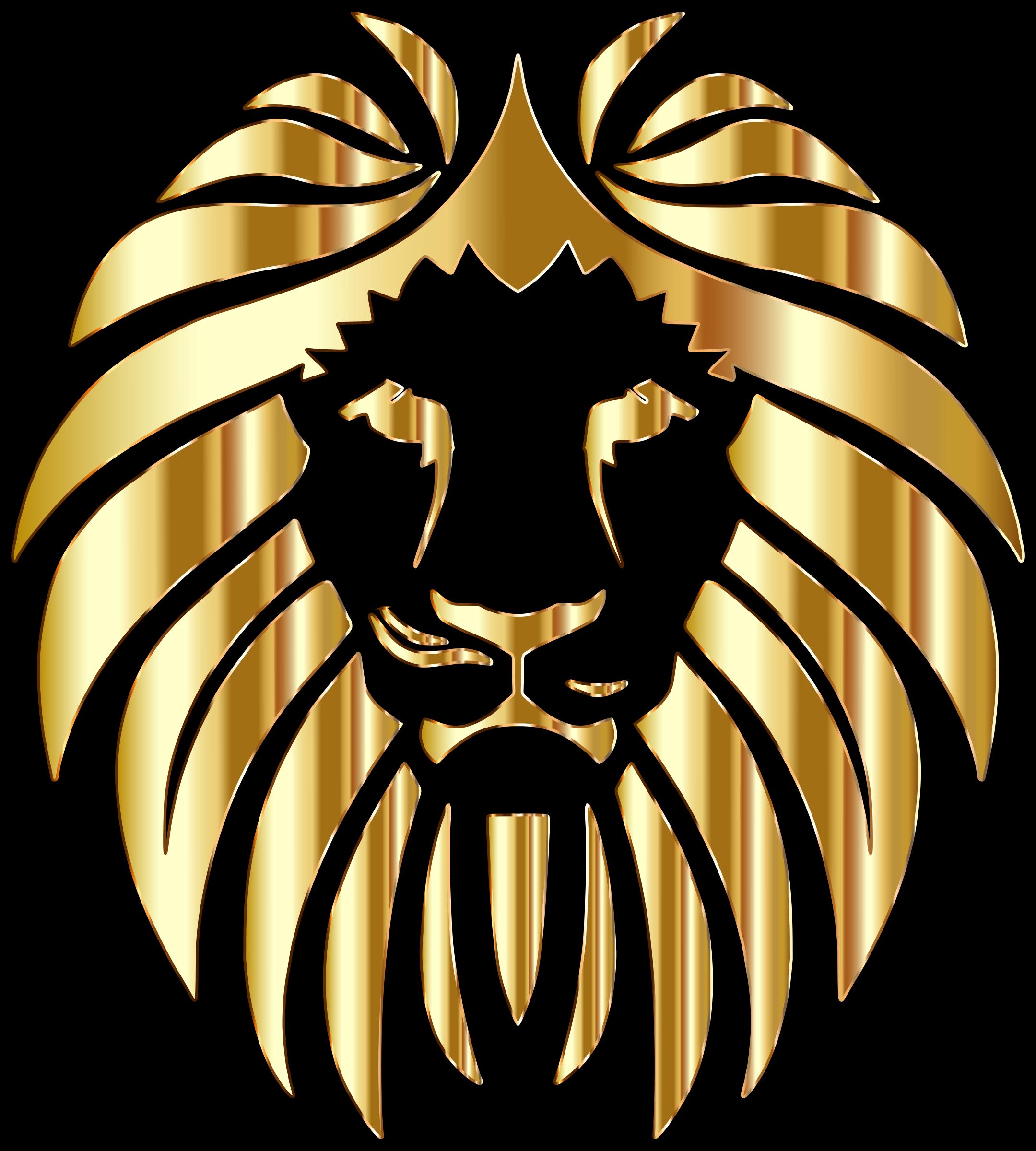 Clipart golden lion variation 2
