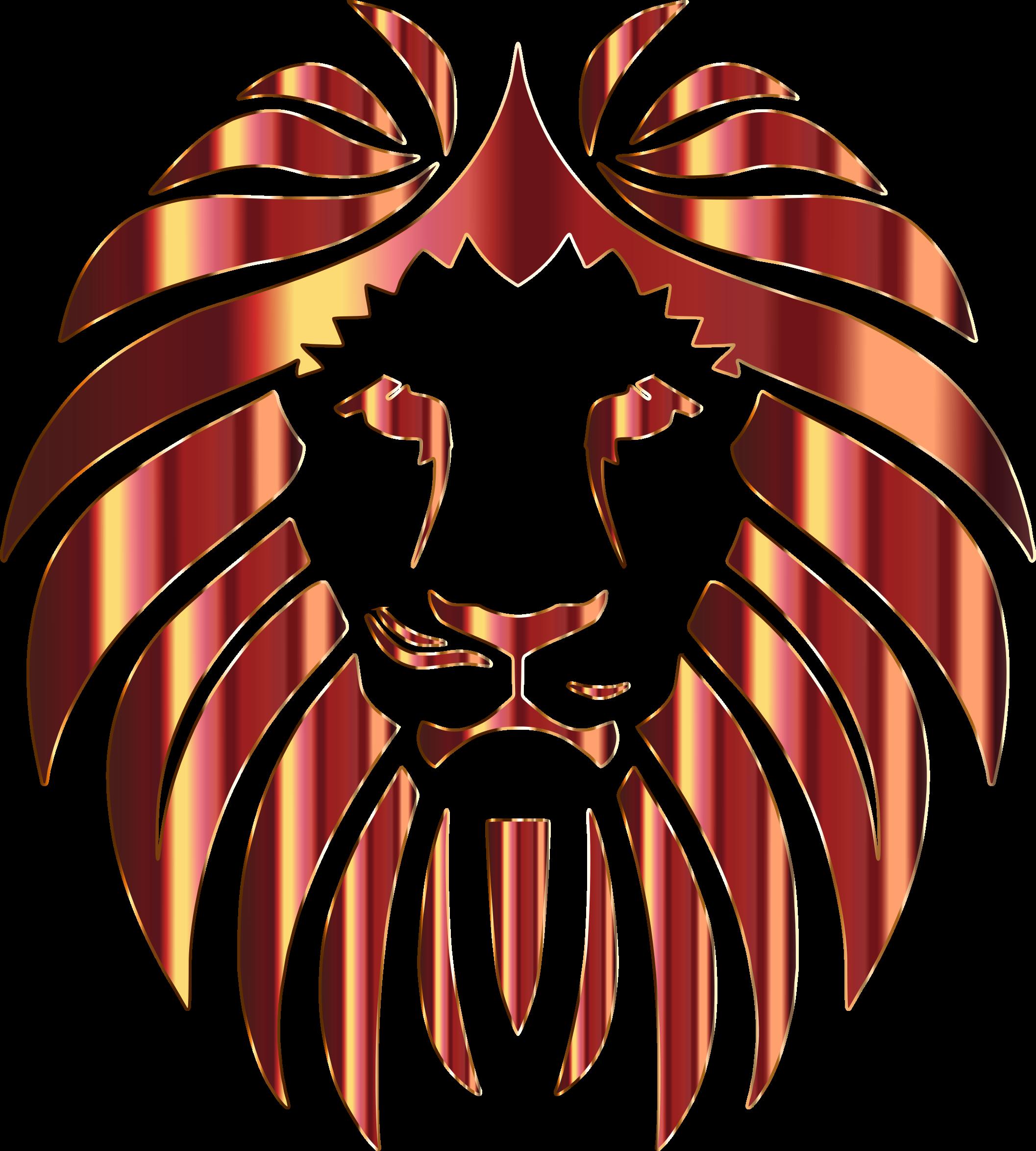 Clipart - Golden Lion 5 No Background