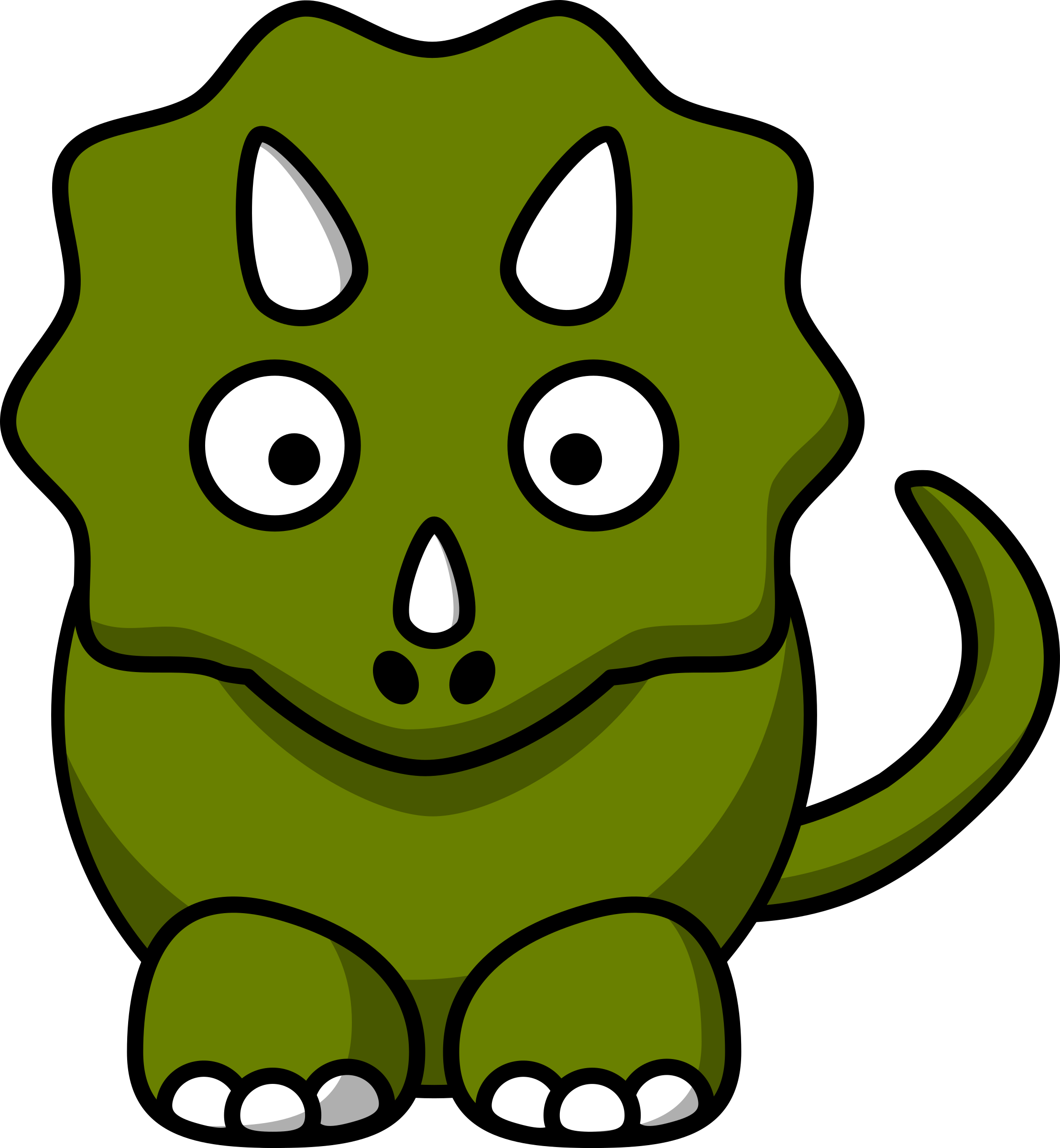 clipart cartoon triceratops