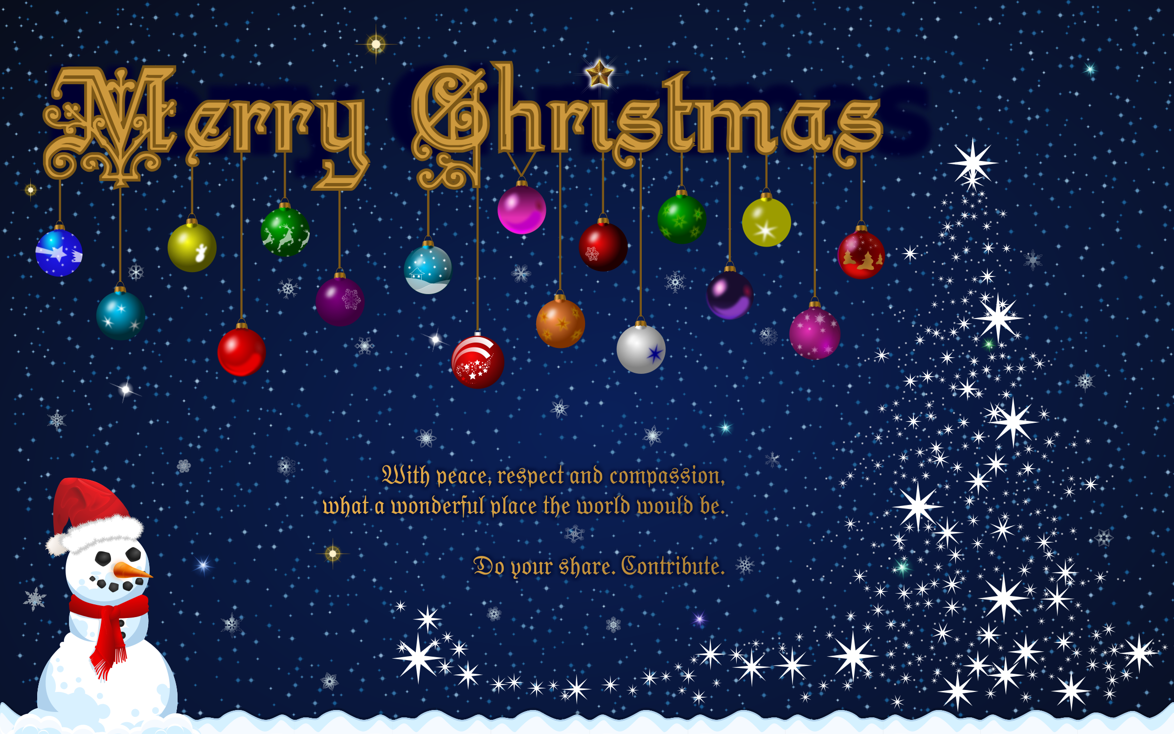clipart - merry christmas wallpaper