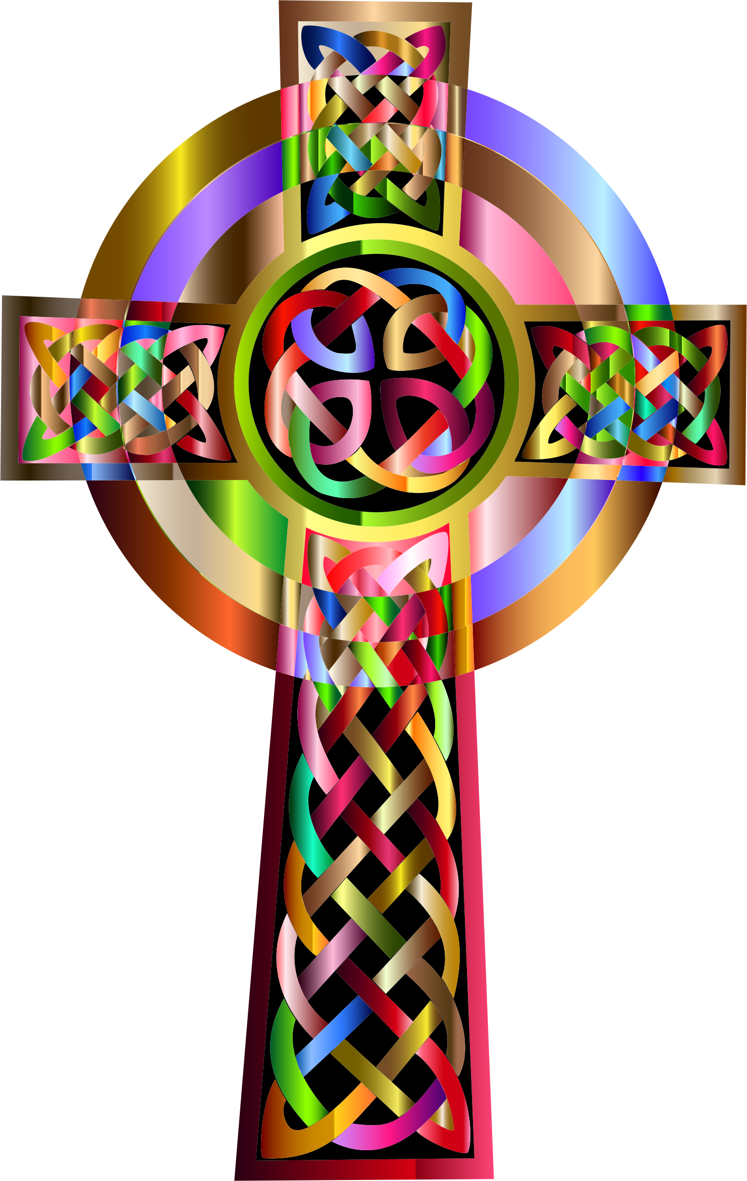 Vibrant Celtic Cross by GDJ