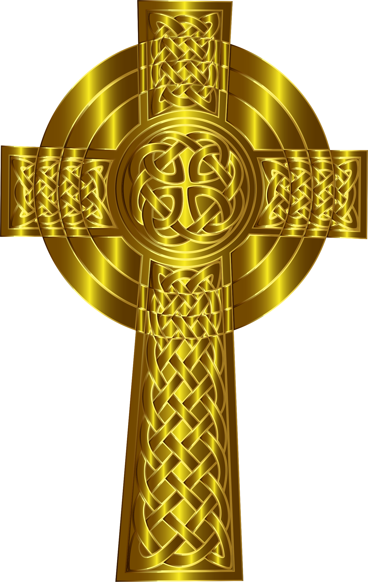 Golden Celtic Cross 6 by GDJ