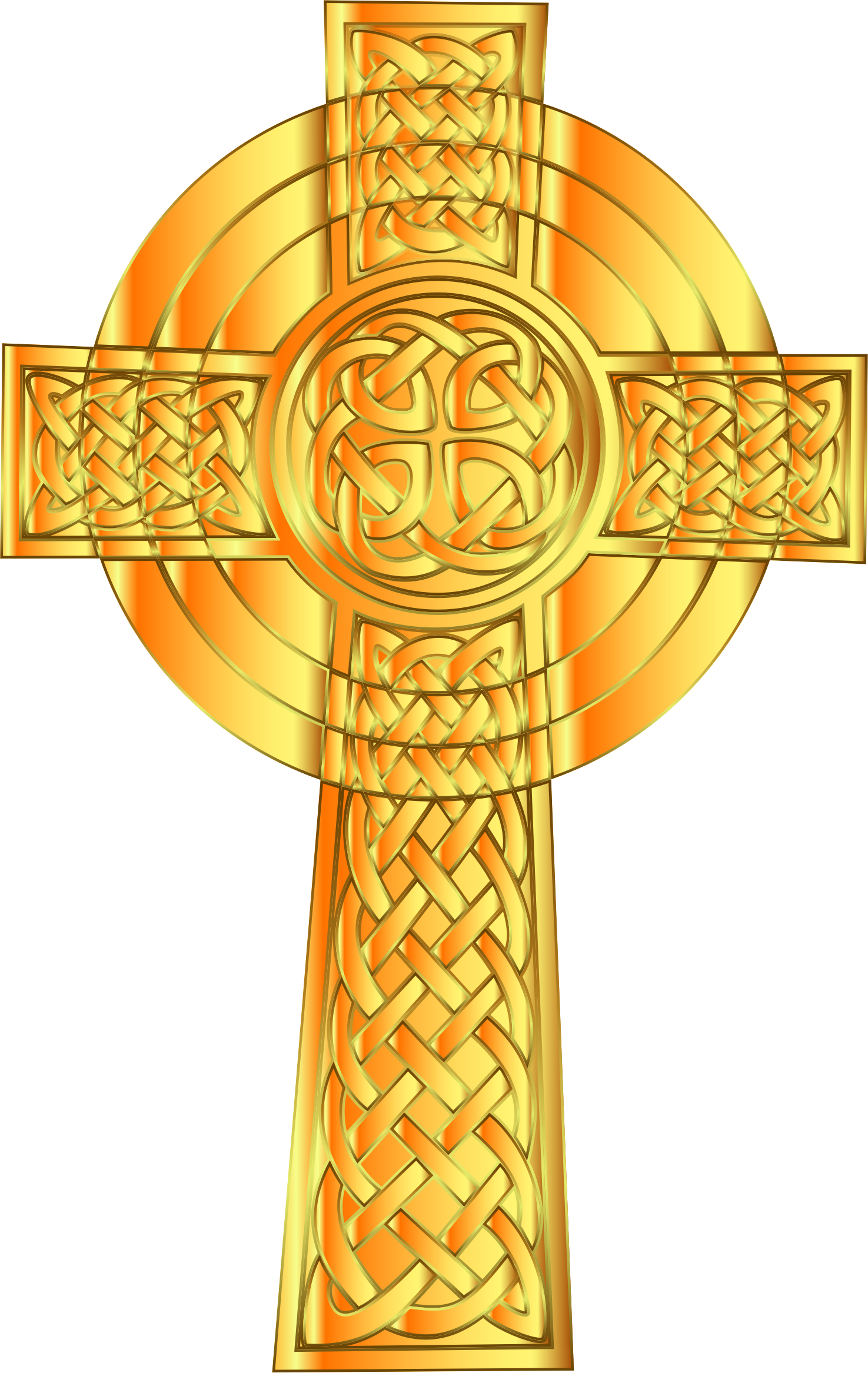 Golden Celtic Cross 7 by GDJ