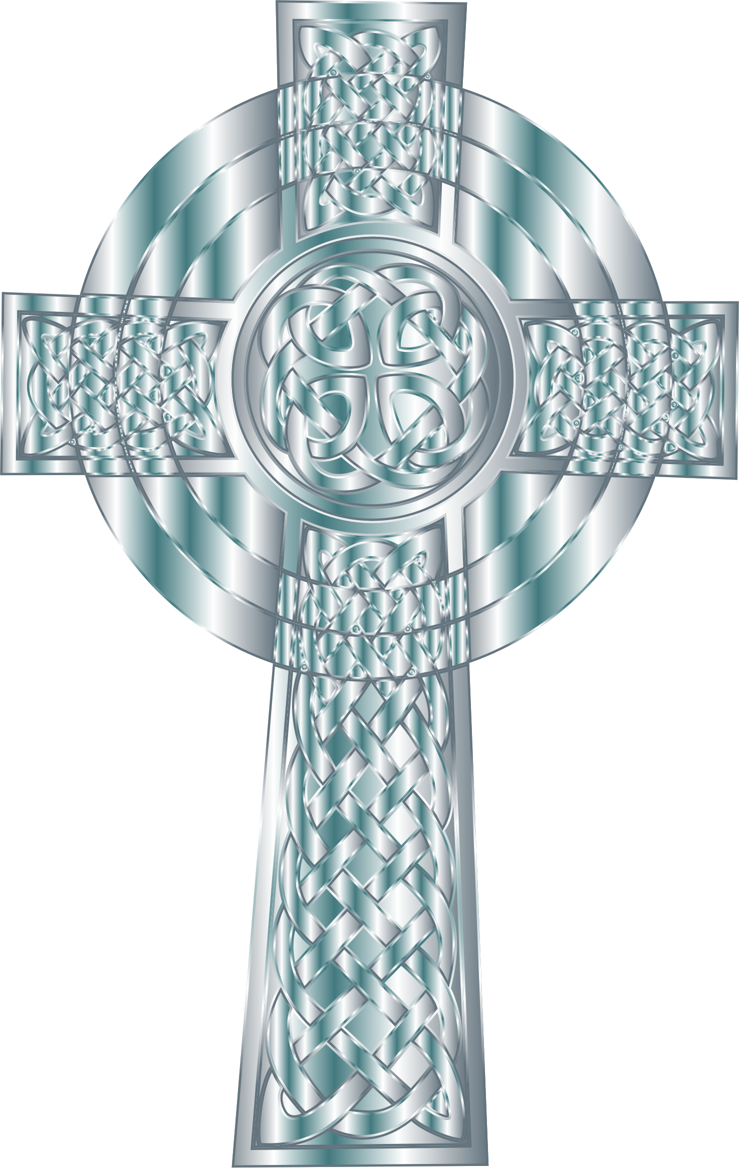 Clipart - Silver Celtic Cross 4