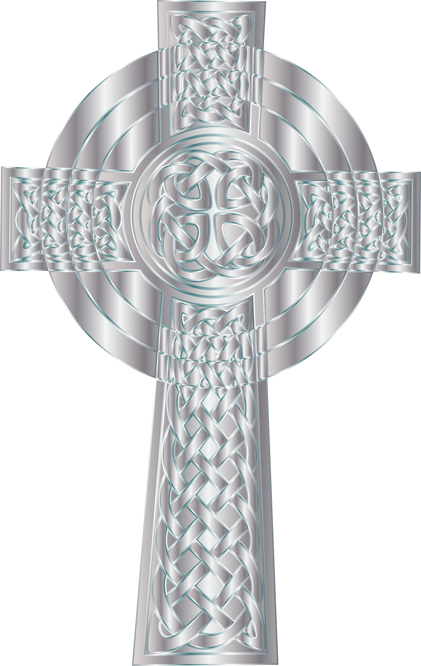 Clipart - Silver Celtic Cross 5