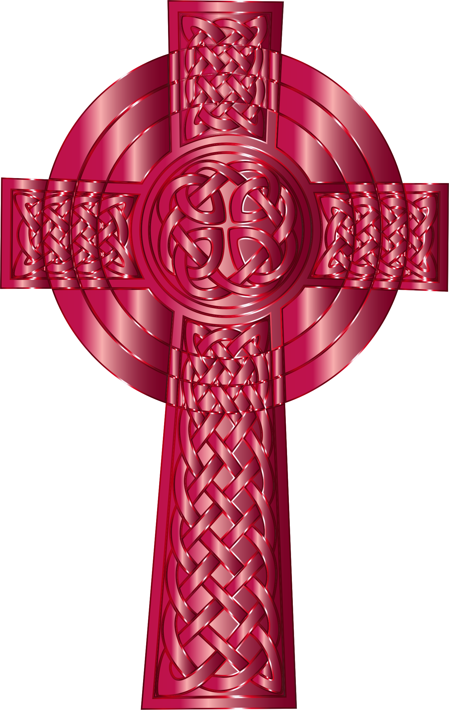 Ruby Celtic Cross by GDJ