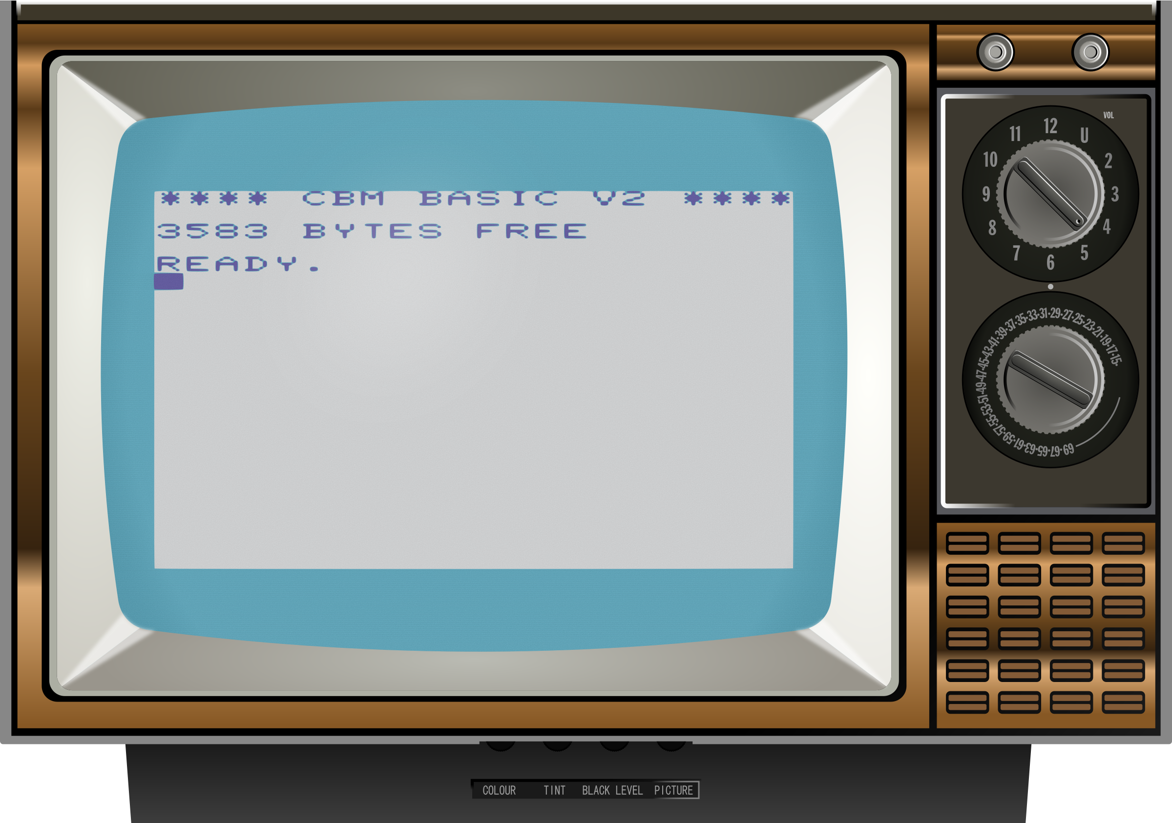 Old TV 2 (Vic 20) by Firkin