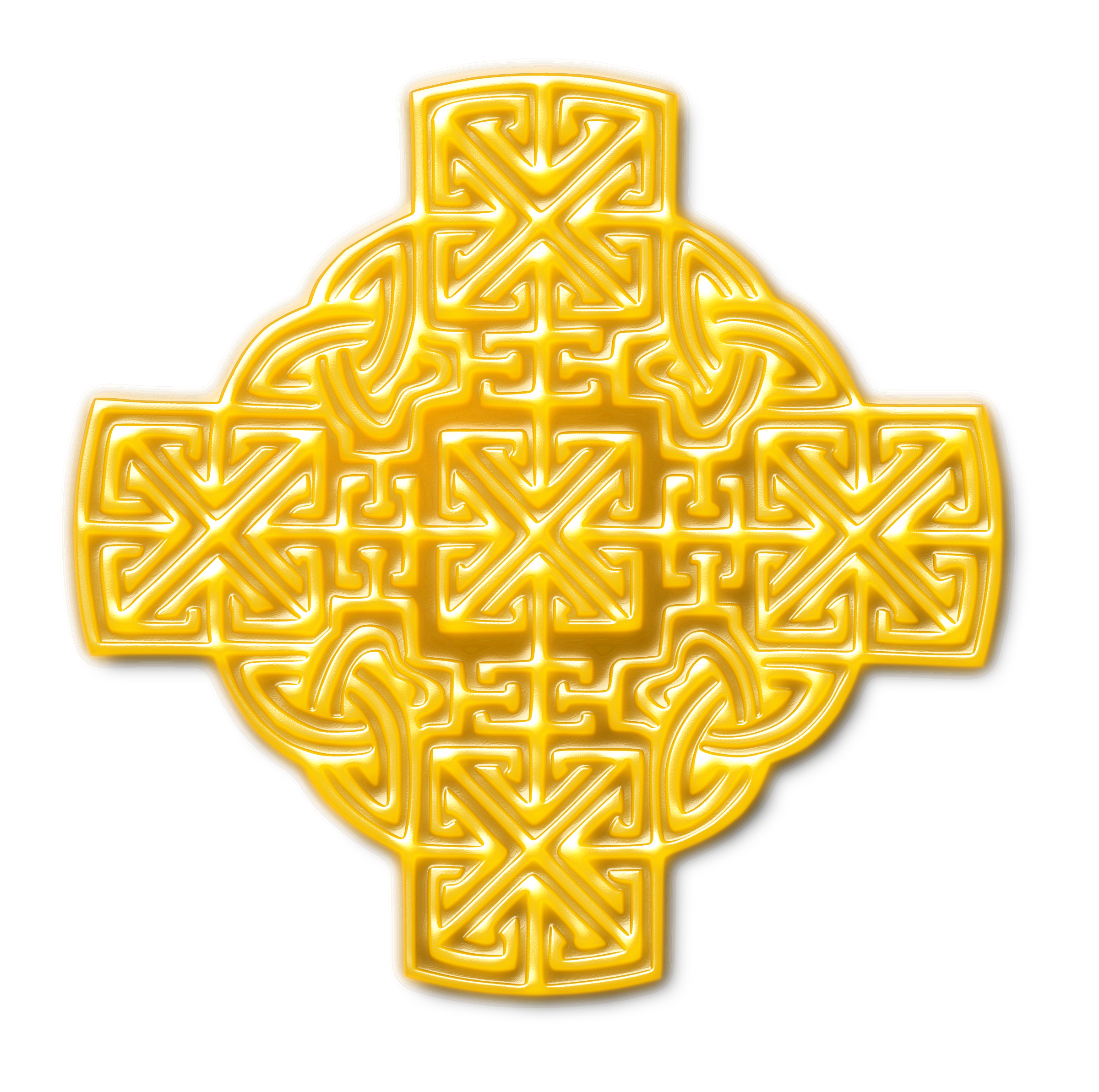 Celtic-inspired design (gold) by Firkin