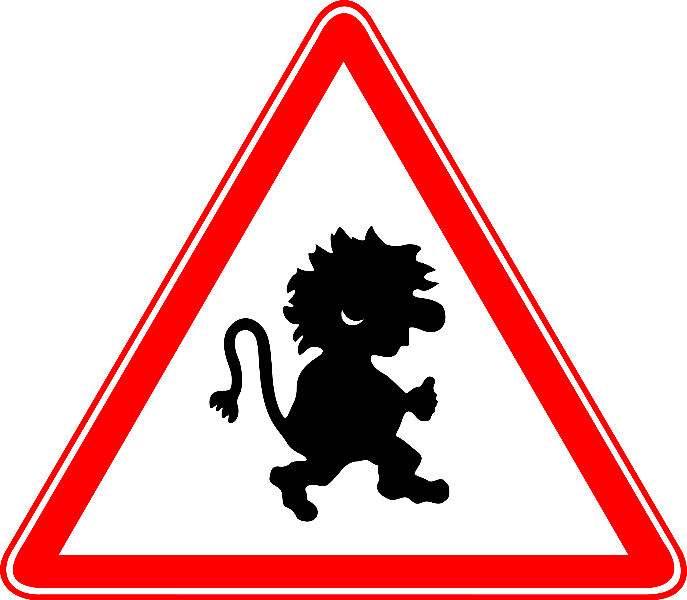Beware of trolls sign by rones