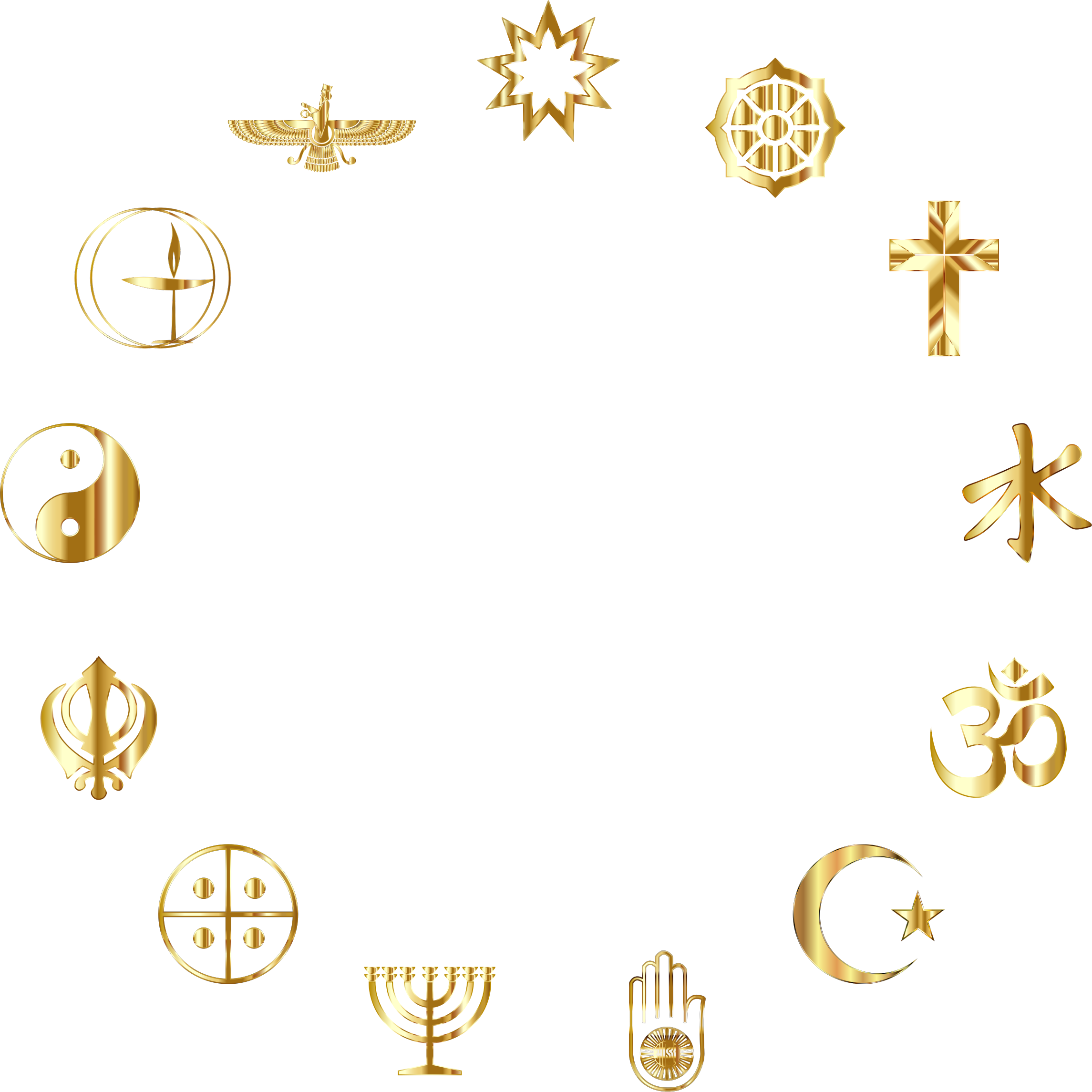 World Religious Symbols Gold by GDJ