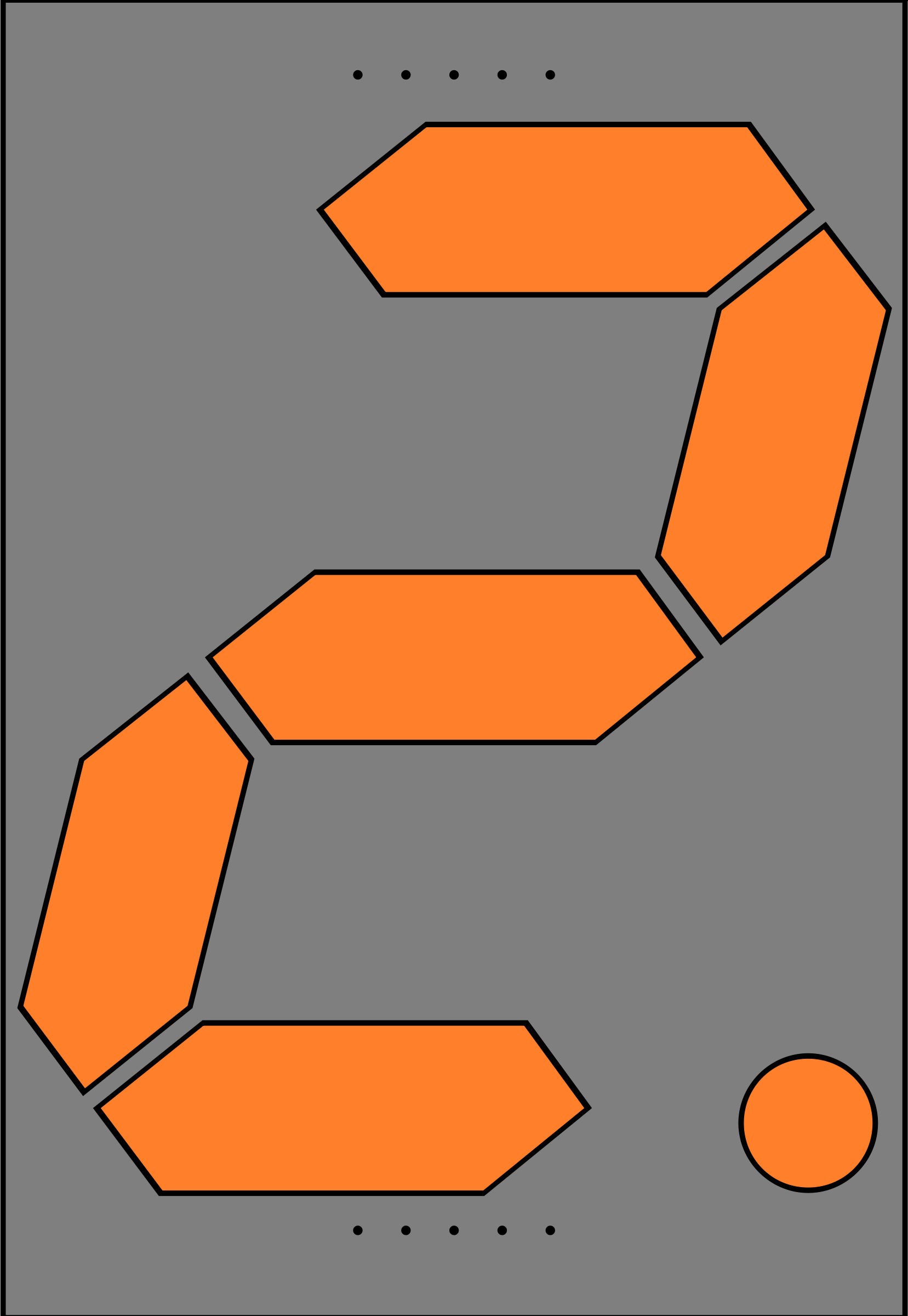 Orange Seven Segment Display: Two by jonathan357