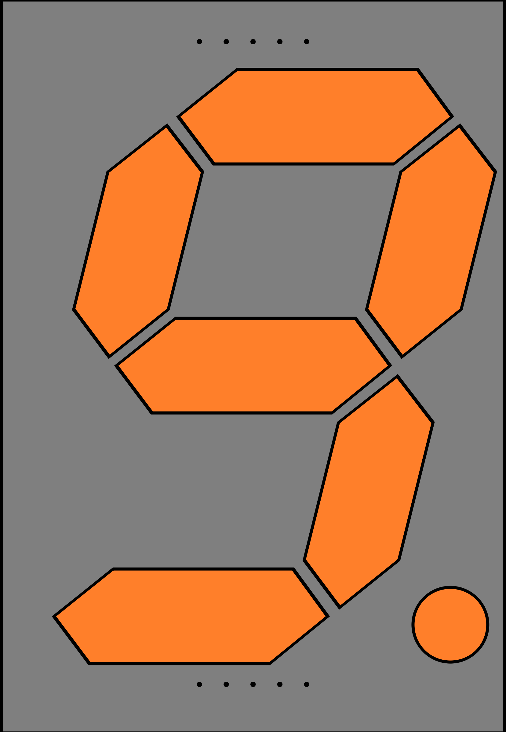 Orange Seven Segment Display: Nine by jonathan357