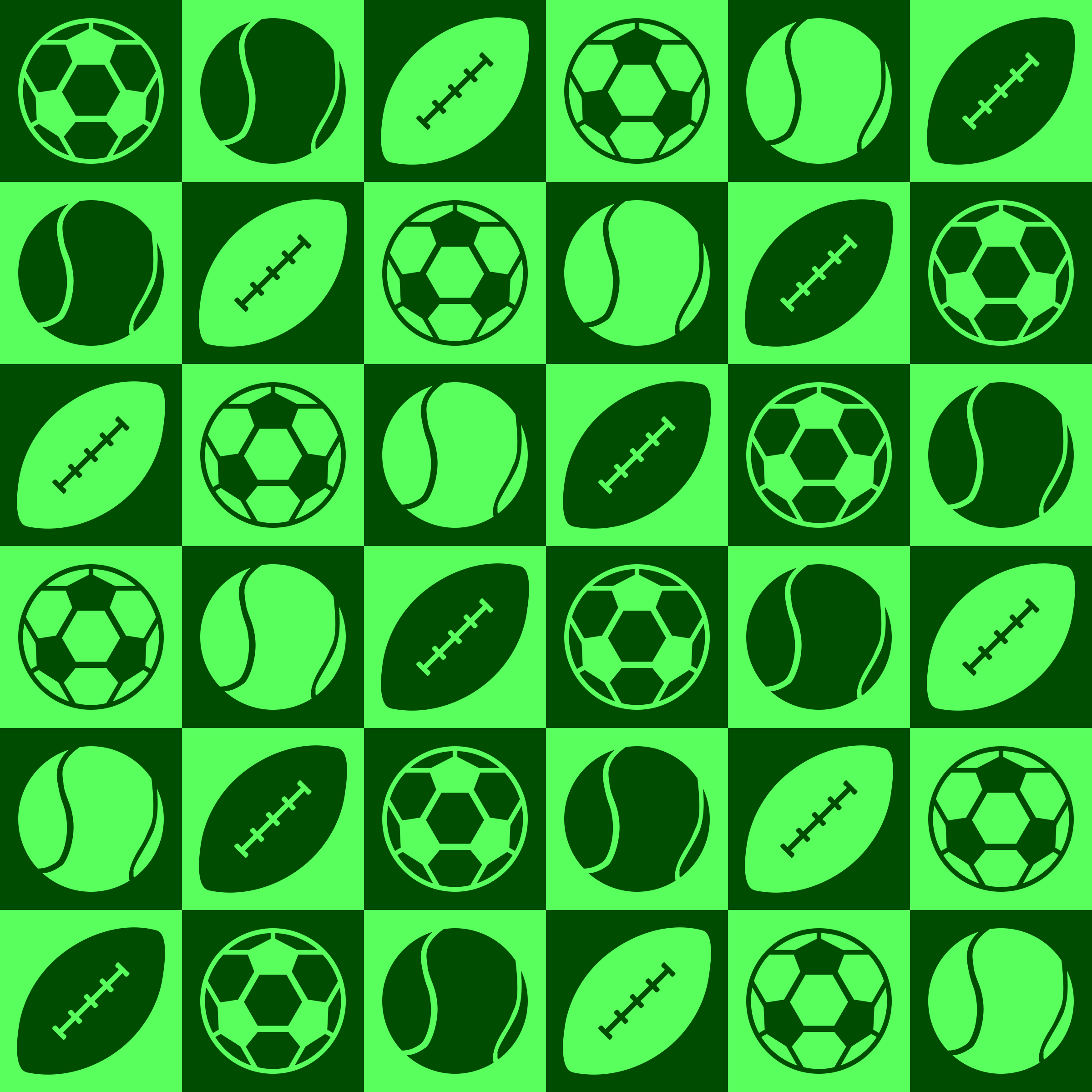 Sports ball pattern by Firkin