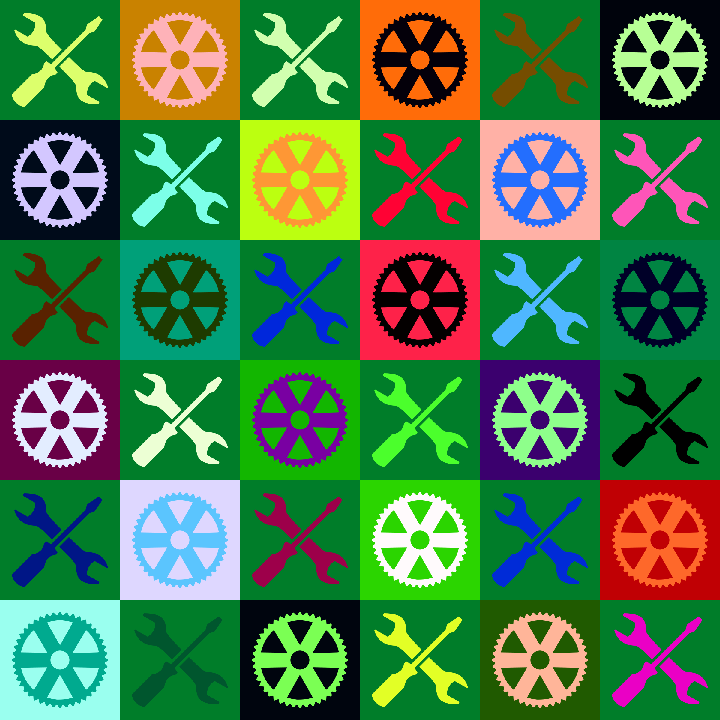 Engineering pattern (multicoloured) by Firkin