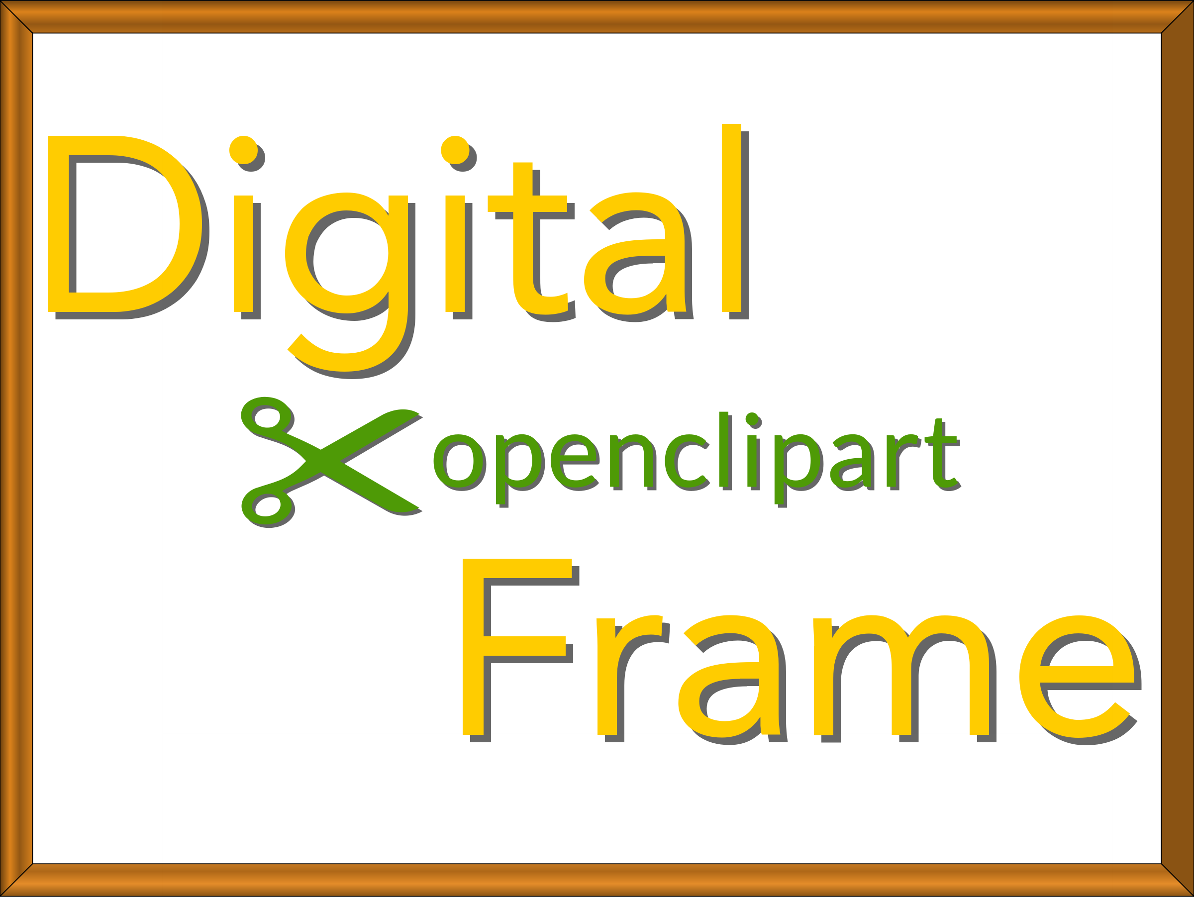Digital OpenClipArt Frame 4x3 by JayNick