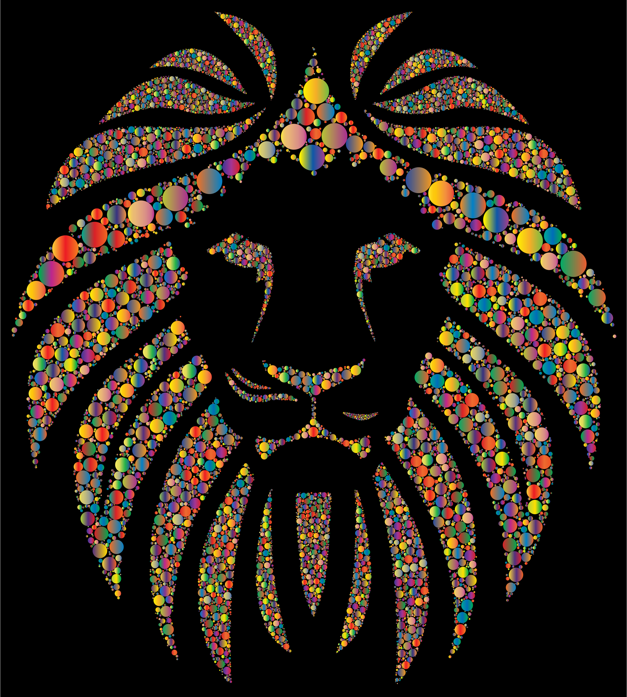 Colorful Lion Circles 3 by GDJ