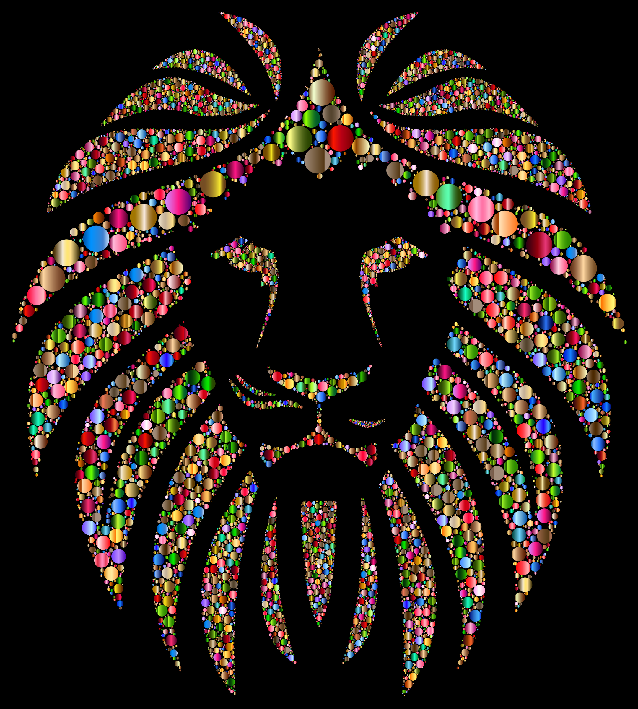 Colorful Lion Circles 4 by GDJ