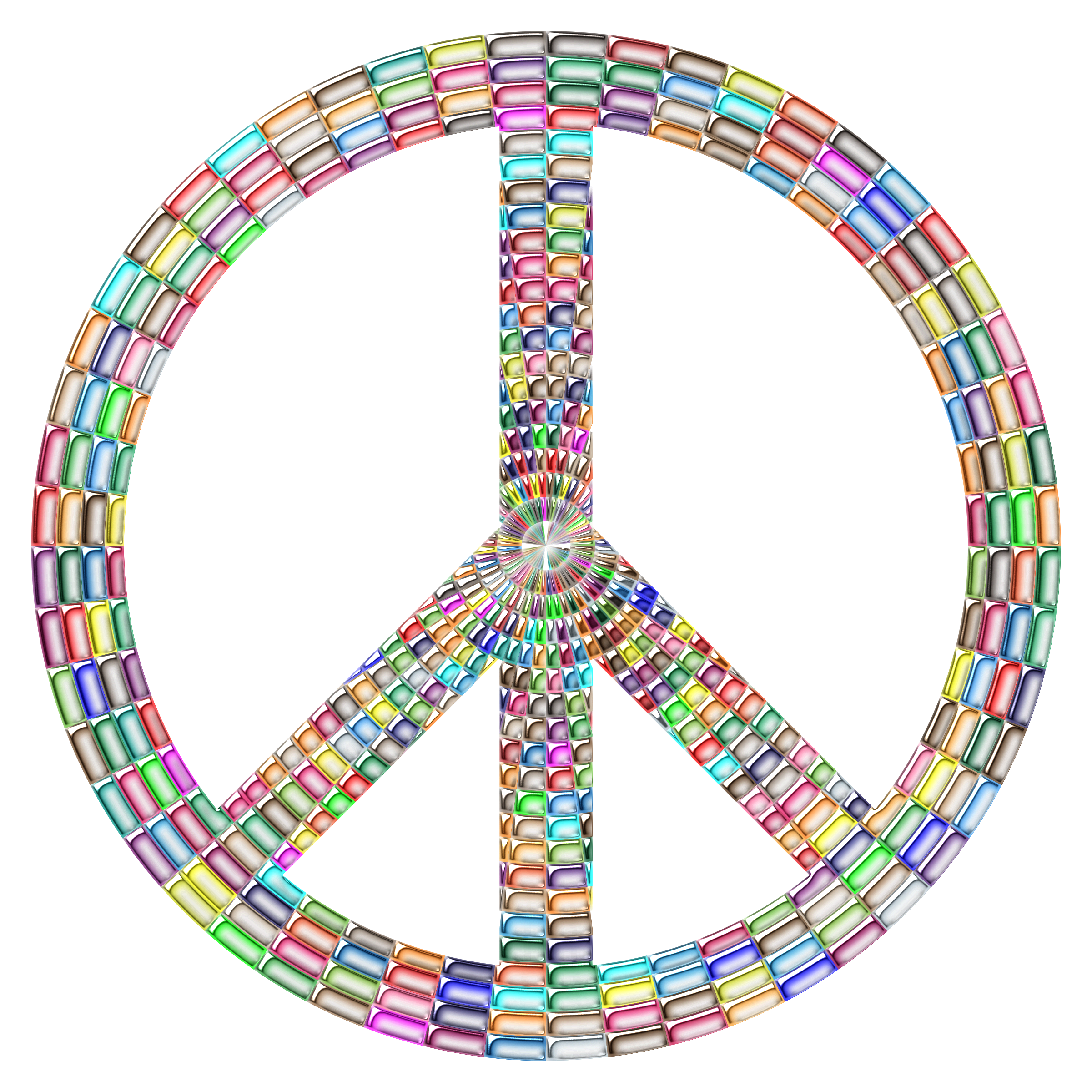 Prismatic Peace Sign Enhanced by GDJ