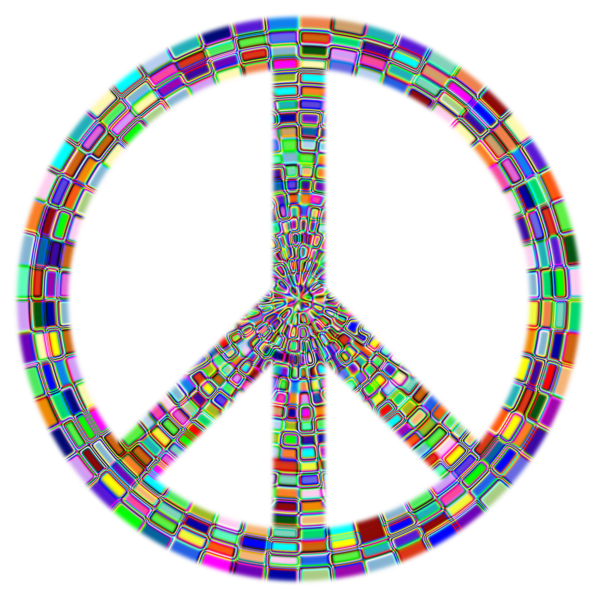 Prismatic Peace Sign Enhanced 2 by GDJ