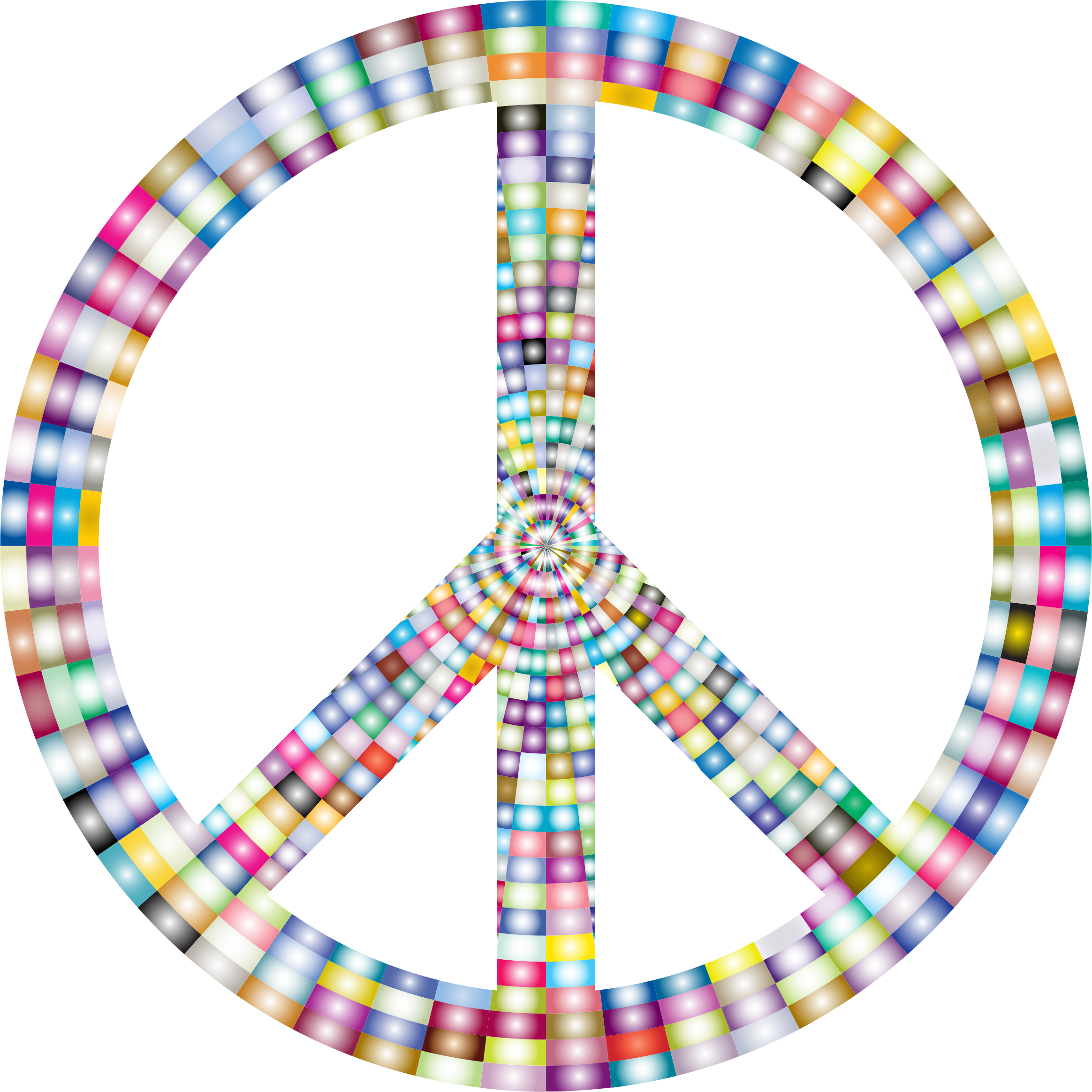 Prismatic Peace Sign 3 by GDJ