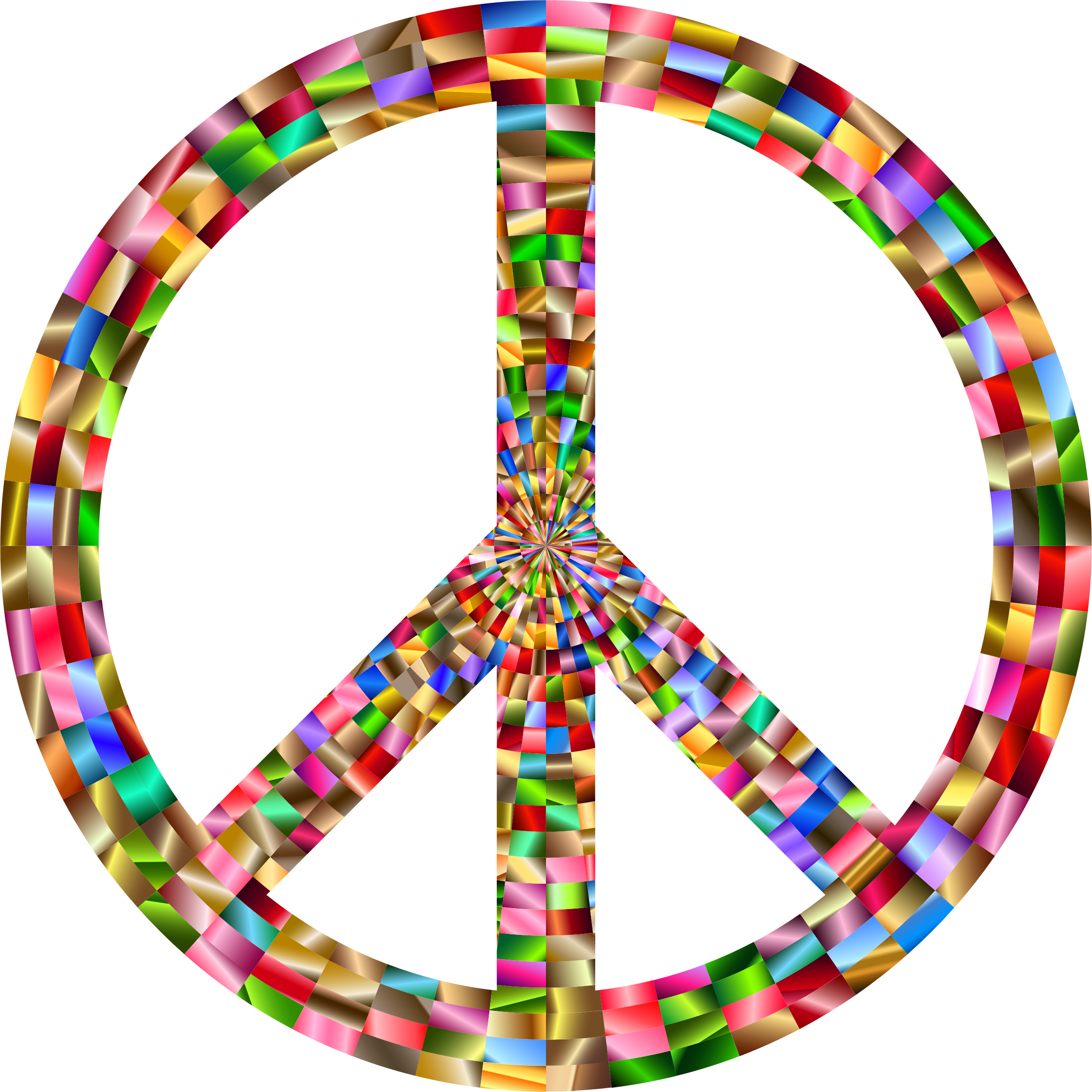 Prismatic Peace Sign 5 by GDJ