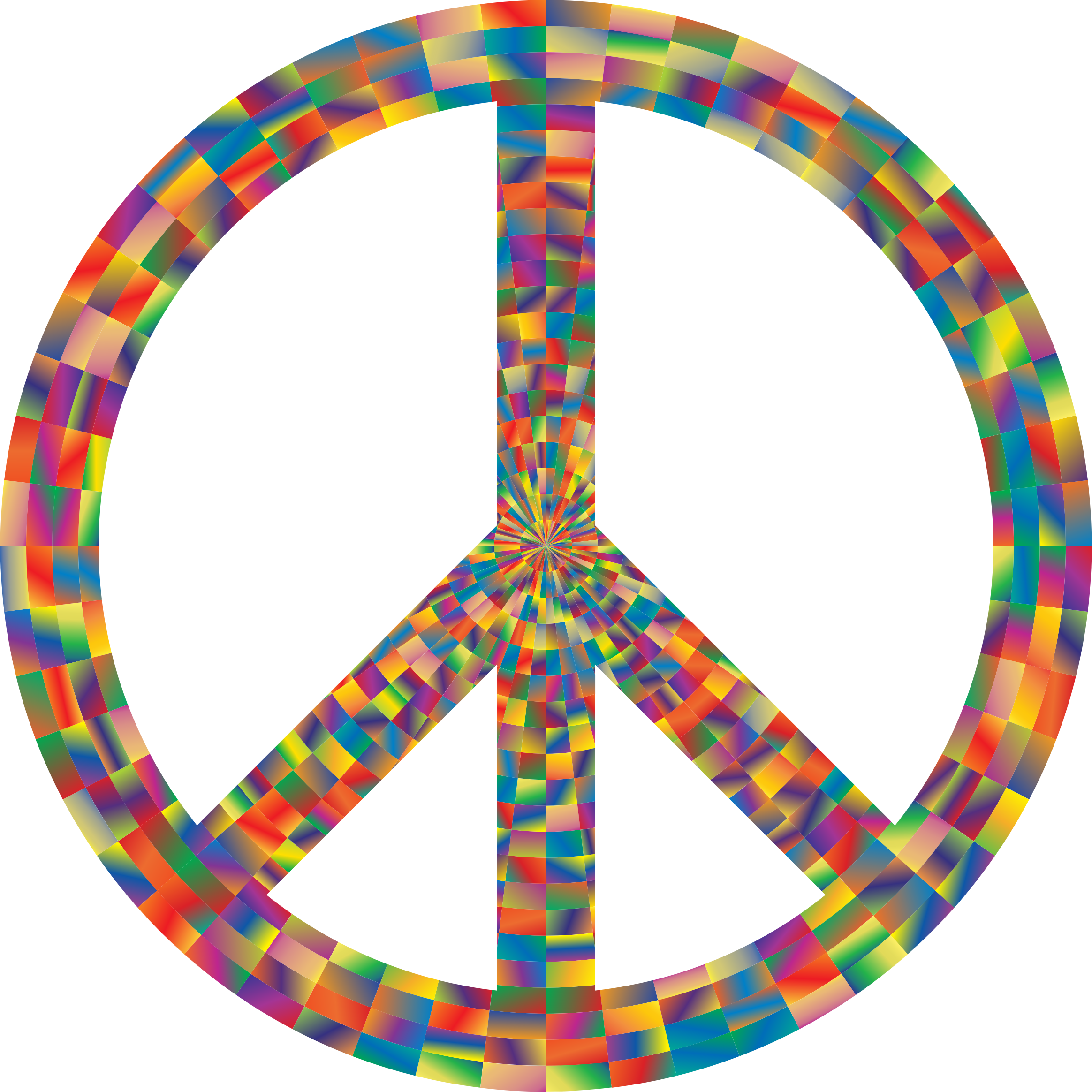 Prismatic Peace Sign 7 by GDJ