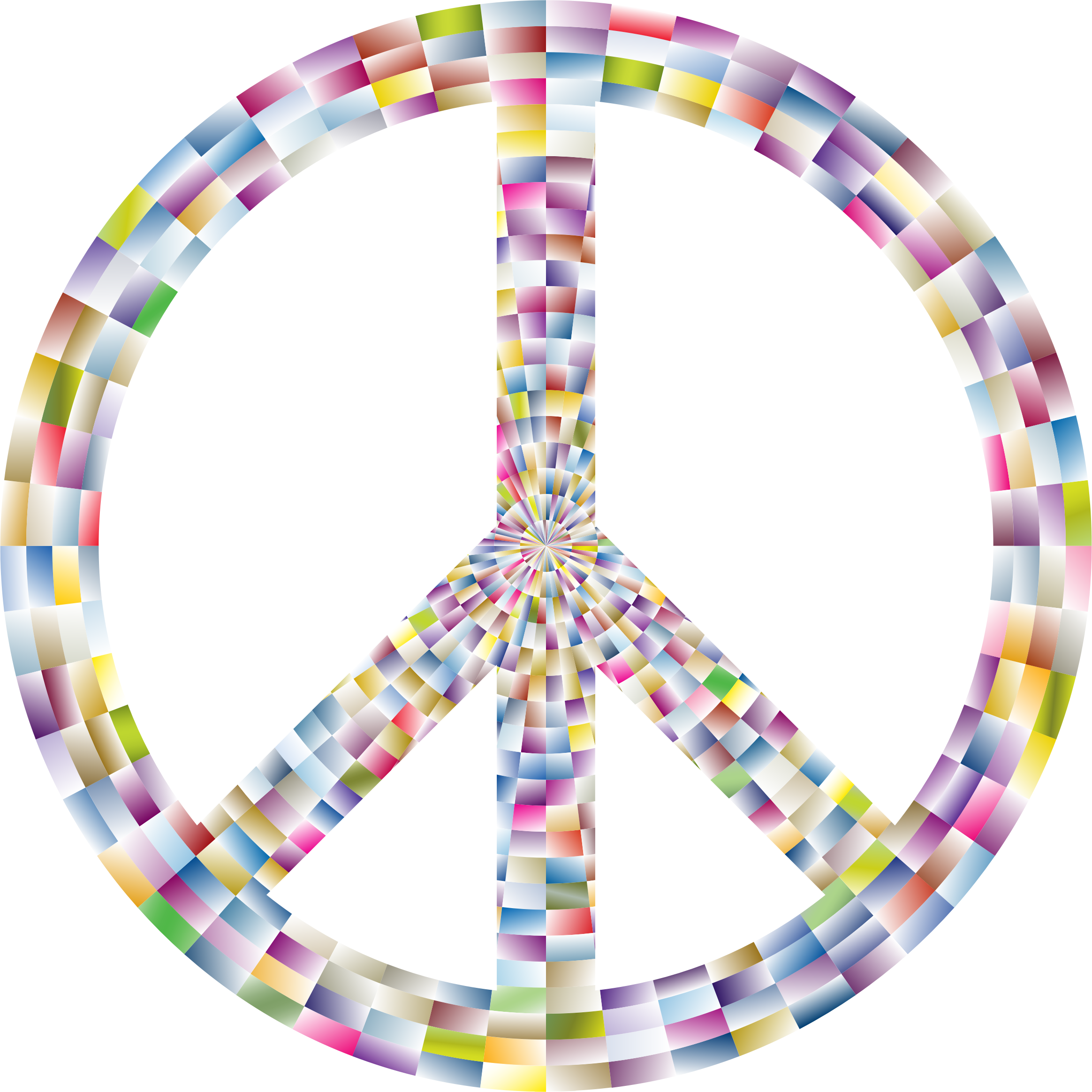 Prismatic Peace Sign 8 by GDJ