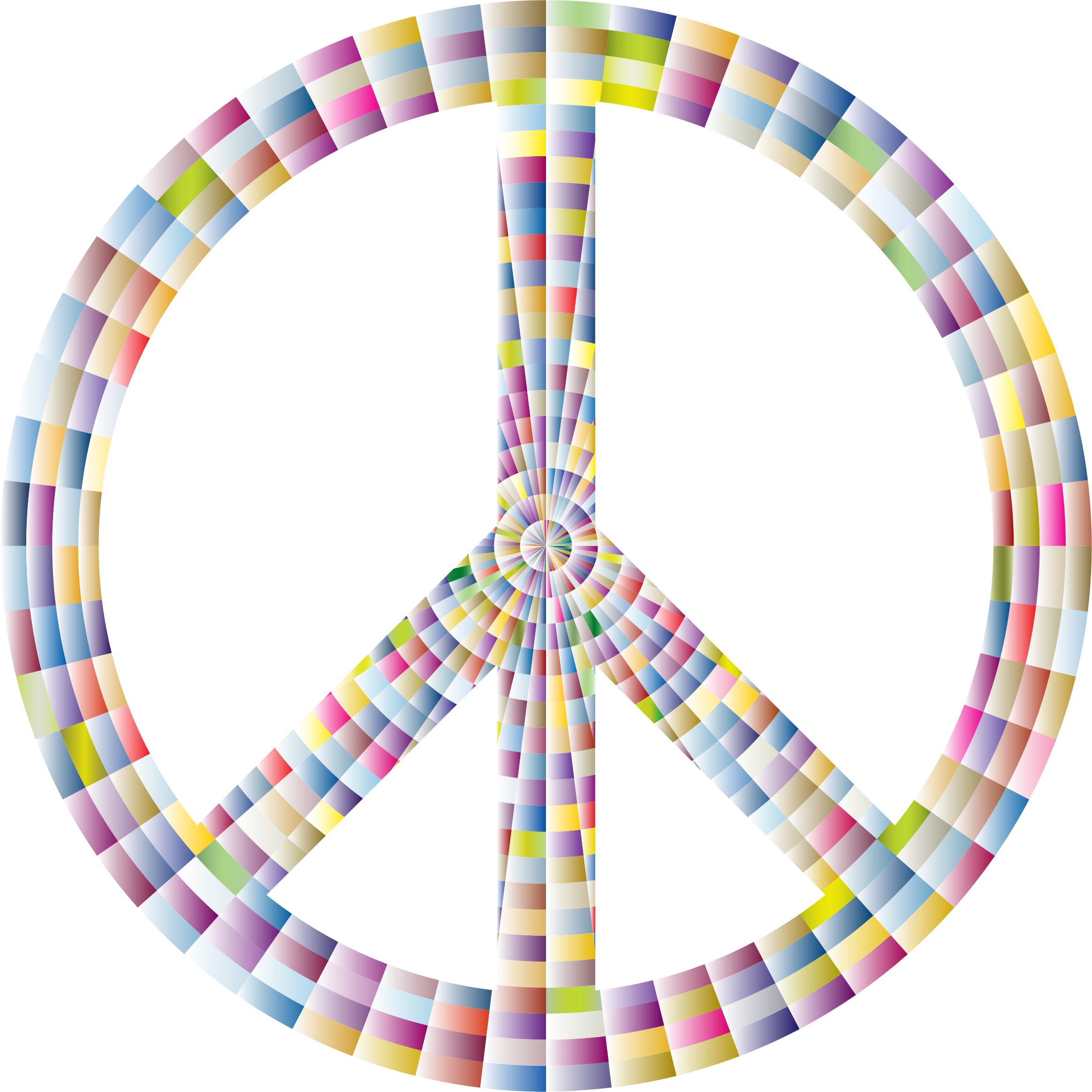 Prismatic Peace Sign 9 by GDJ