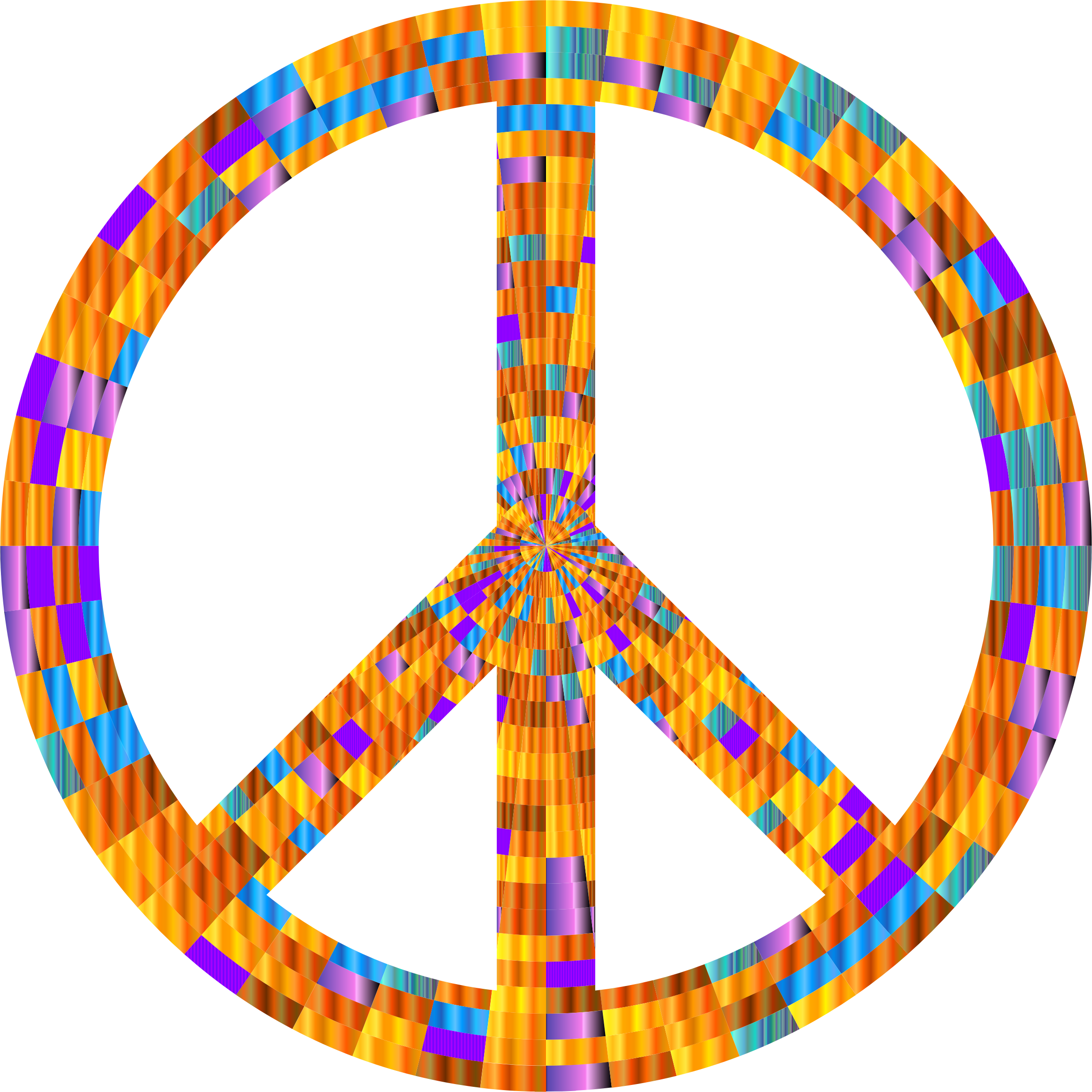Prismatic Peace Sign 10 by GDJ