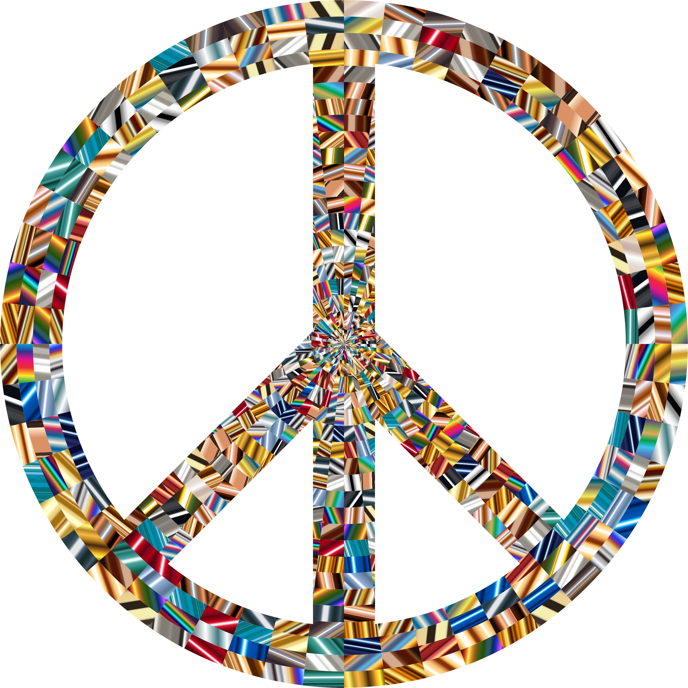 Prismatic Peace Sign 14 by GDJ