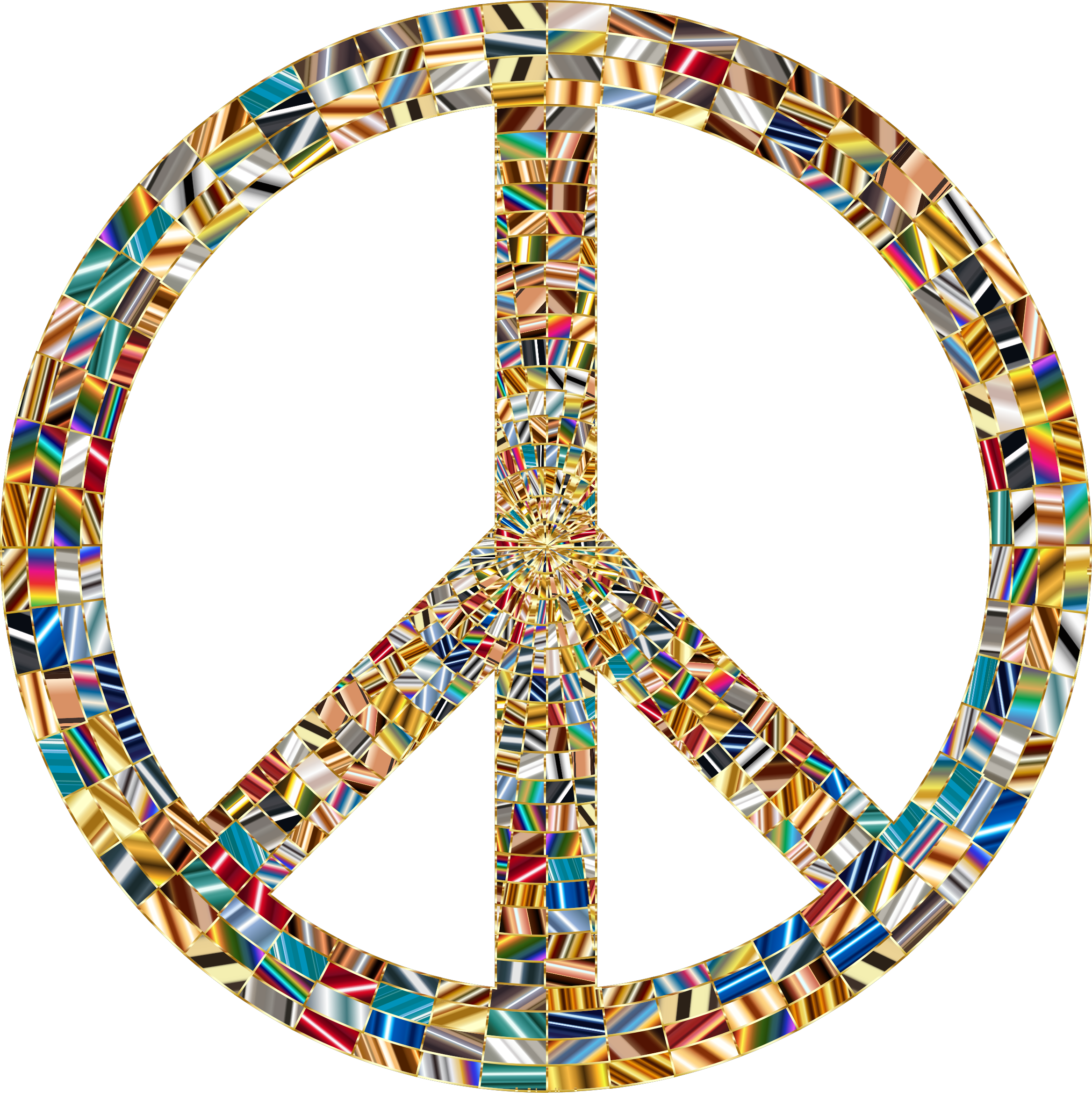 Prismatic Peace Sign 15 No Background by GDJ