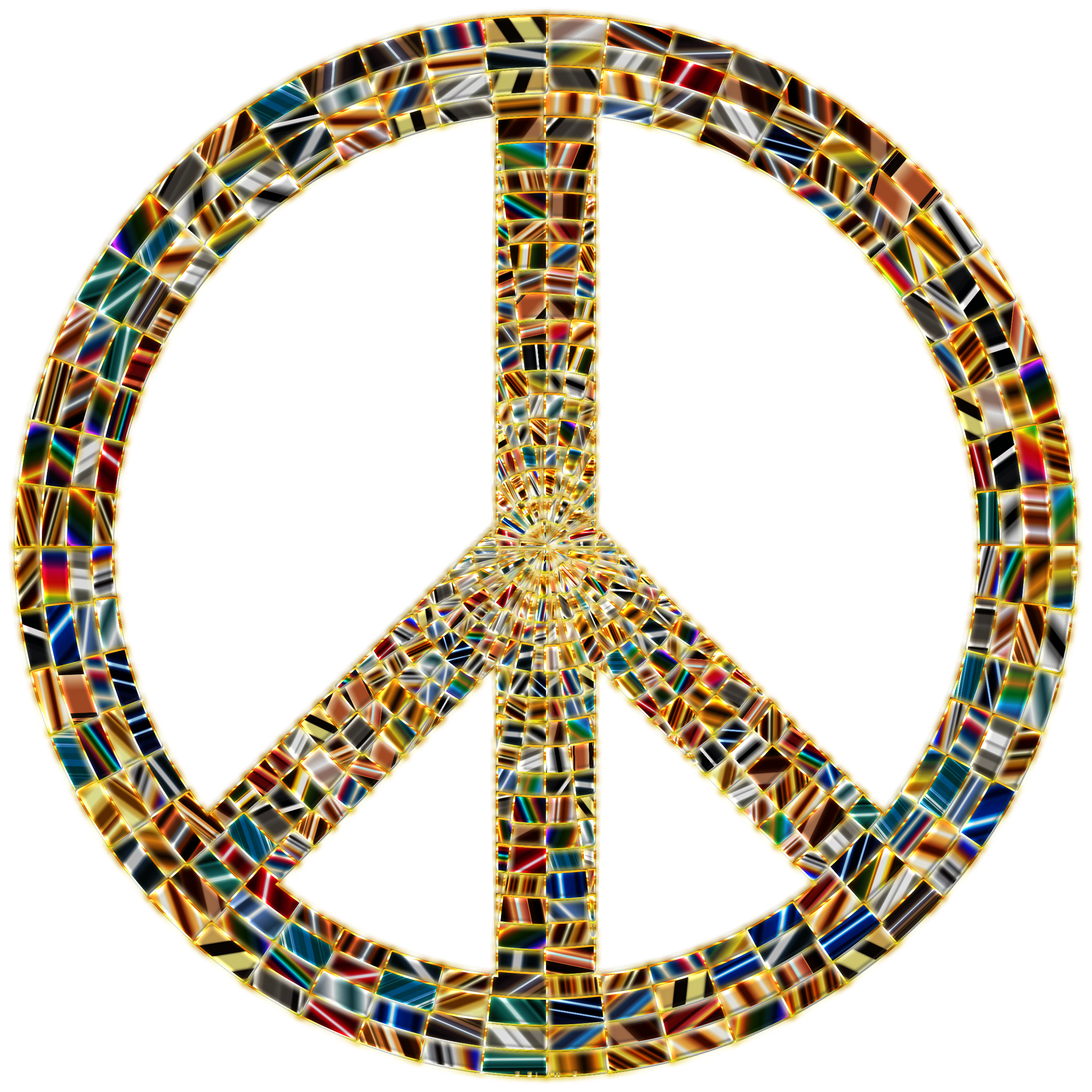 Prismatic Peace Sign 15 Enhanced No Background by GDJ